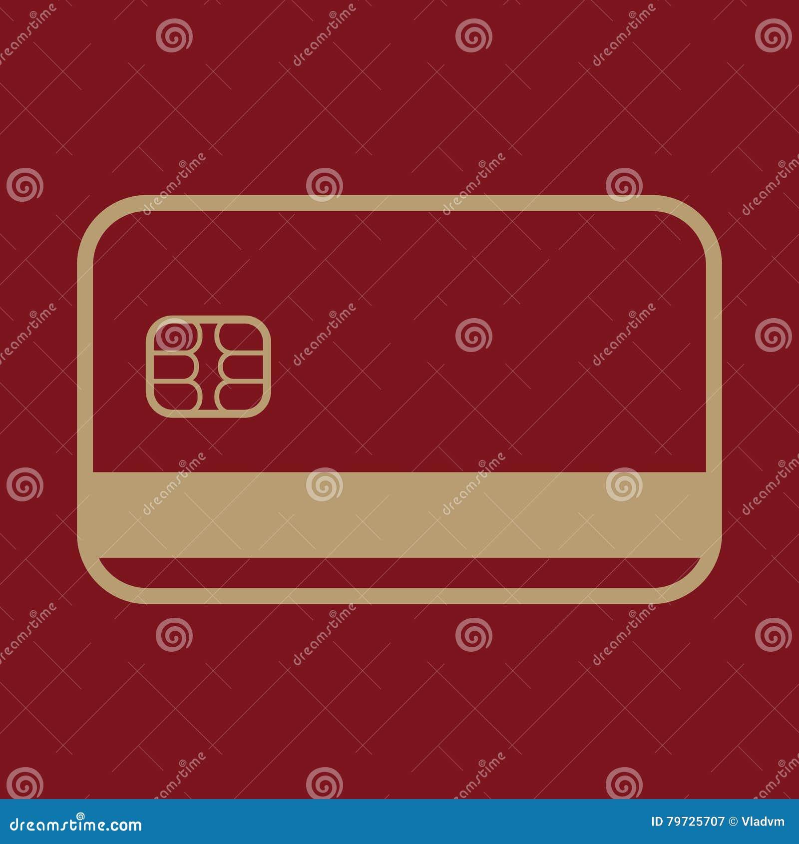 El icono de la tarjeta de crédito Símbolo de la tarjeta de banco