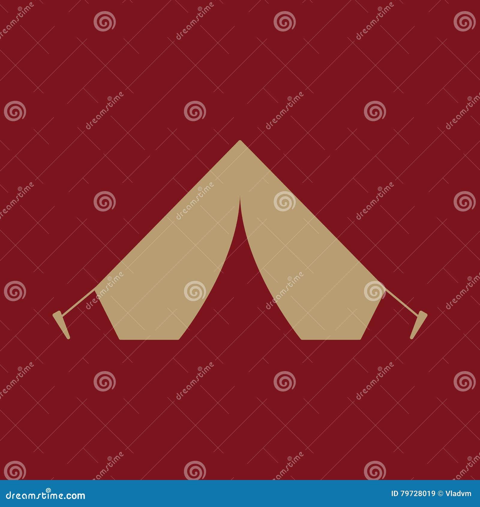 El icono de la tienda Símbolo del viaje plano