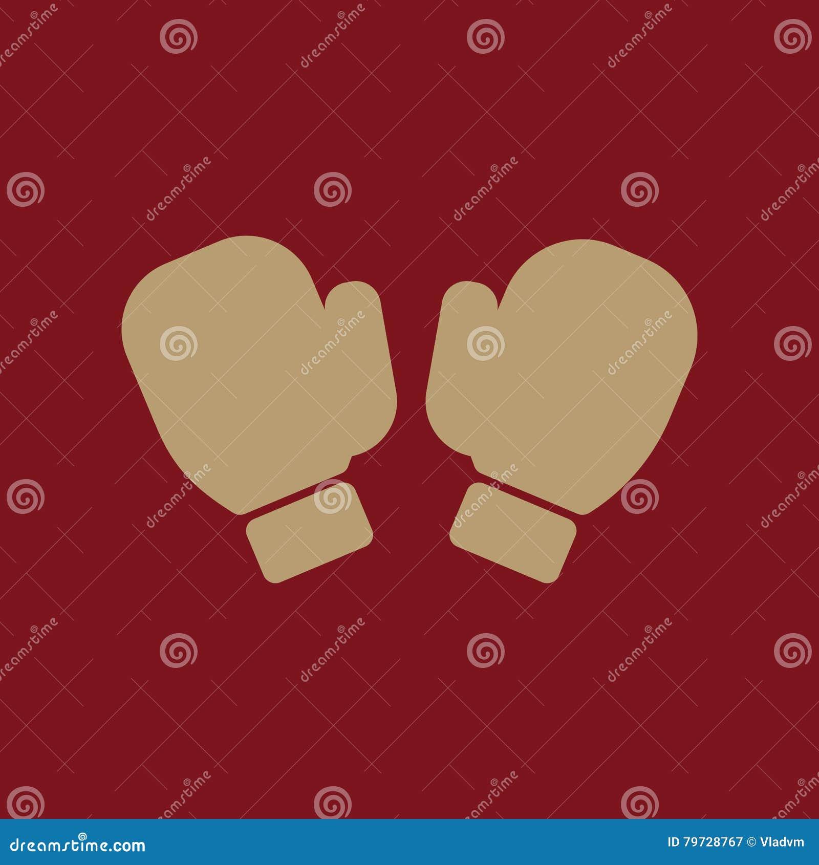 El icono de los guantes de boxeo Símbolo del juego plano
