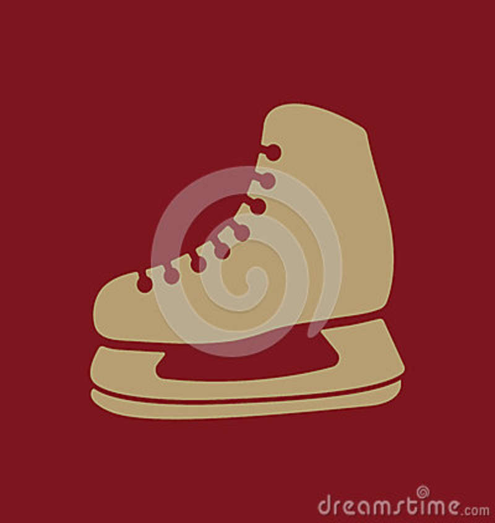 El icono de los patines El hockey patina símbolo plano