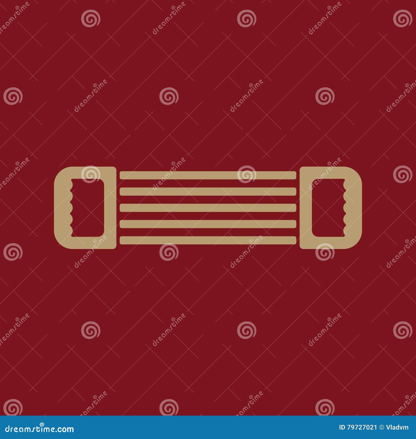 El icono del ampliador Símbolo del ampliador plano