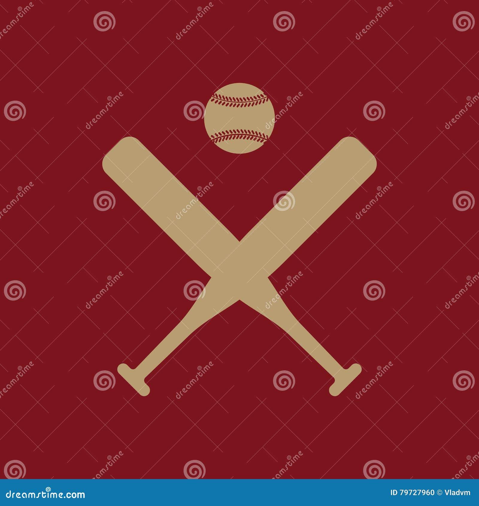 El icono del béisbol Símbolo del deporte plano