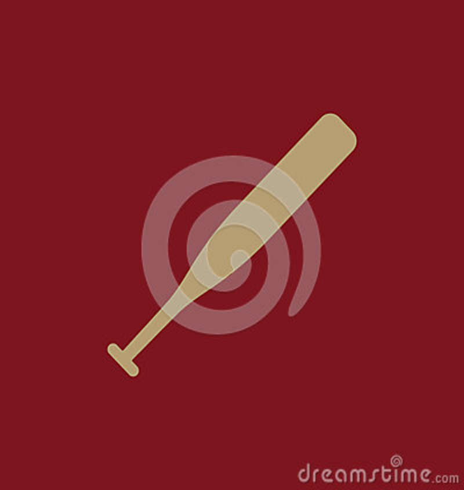 El icono del béisbol Símbolo del juego plano