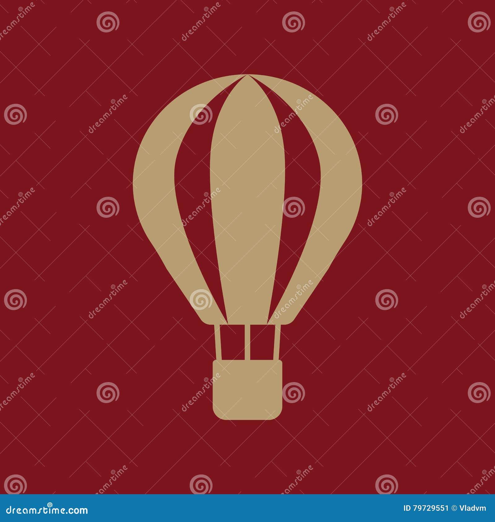 El icono del balón de aire Símbolo del aerostato plano