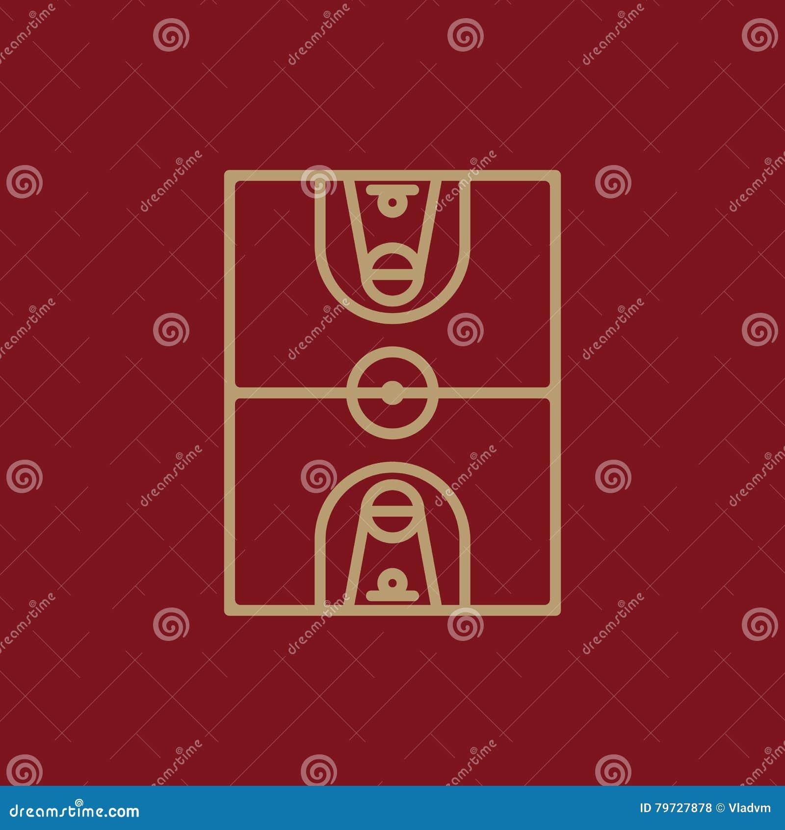 El icono del baloncesto Símbolo del baloncesto plano