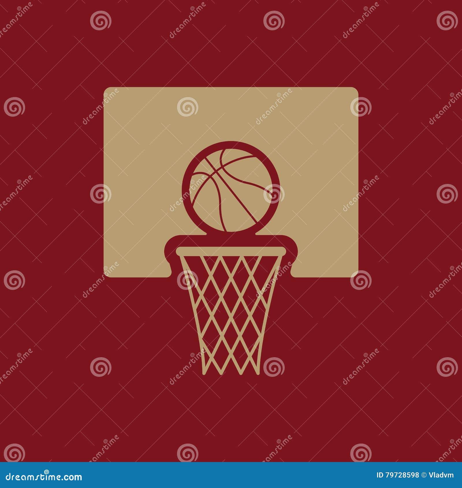 El icono del baloncesto Símbolo del juego plano