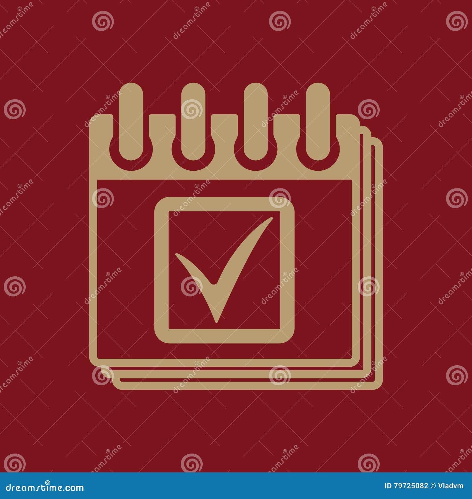 El icono del calendario Símbolo del calendario