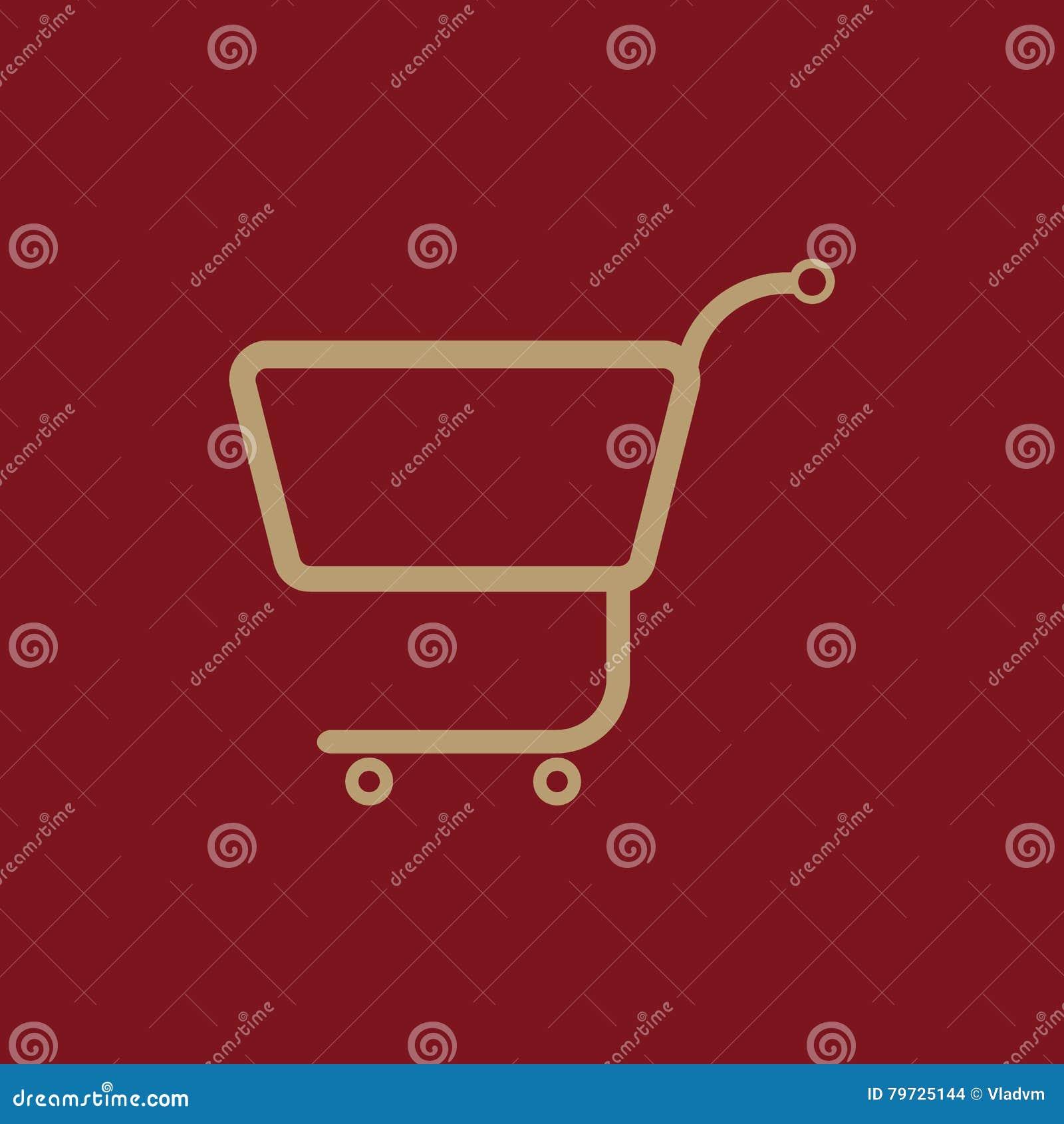 El icono del carro de la compra Carro de compras plano