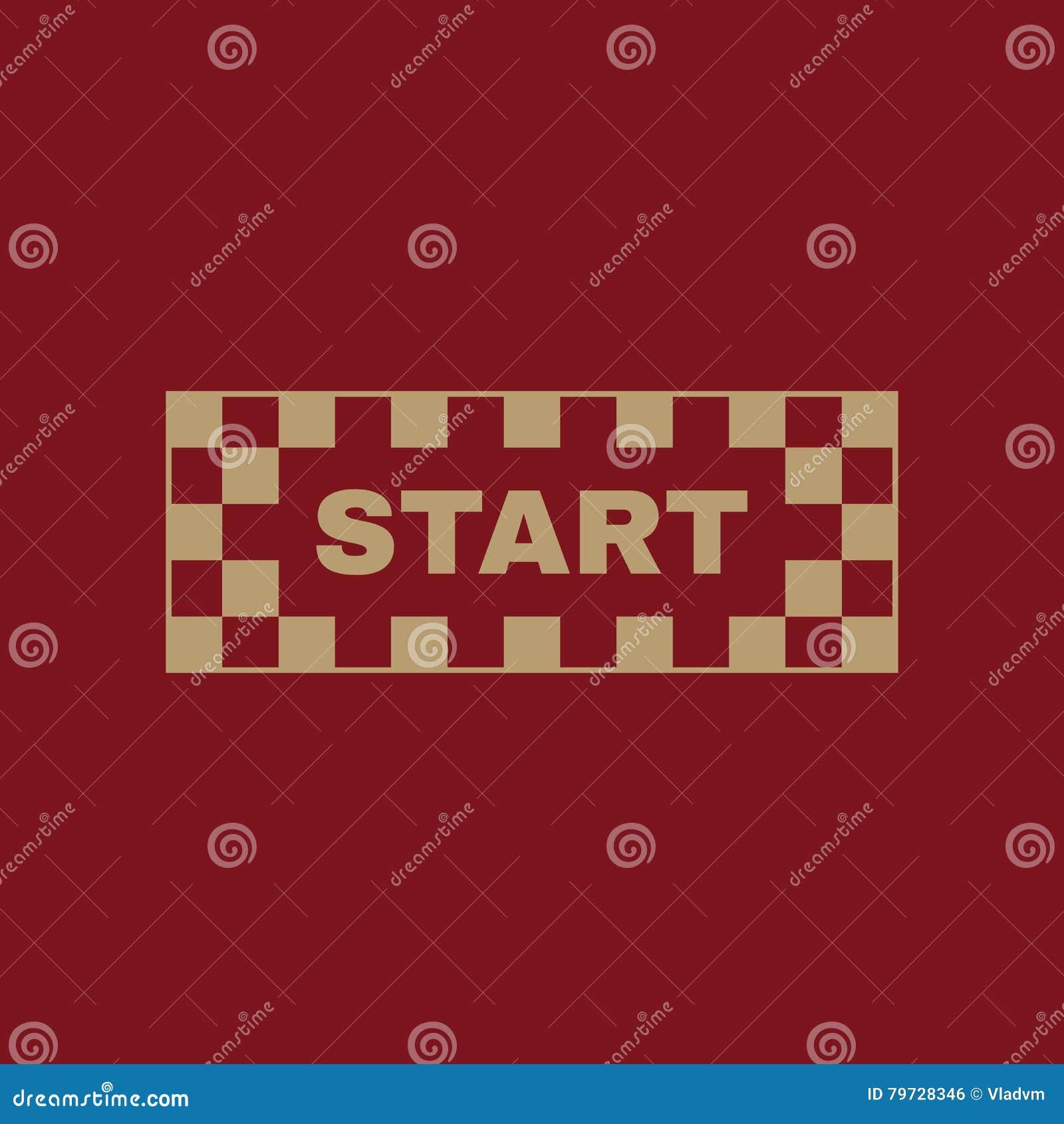 El icono del comienzo Símbolo de inicio plano