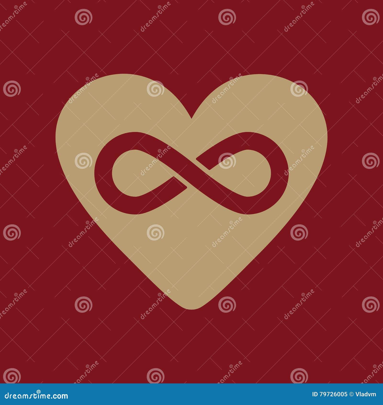 El icono del corazón y del infinito Corazón e infinito