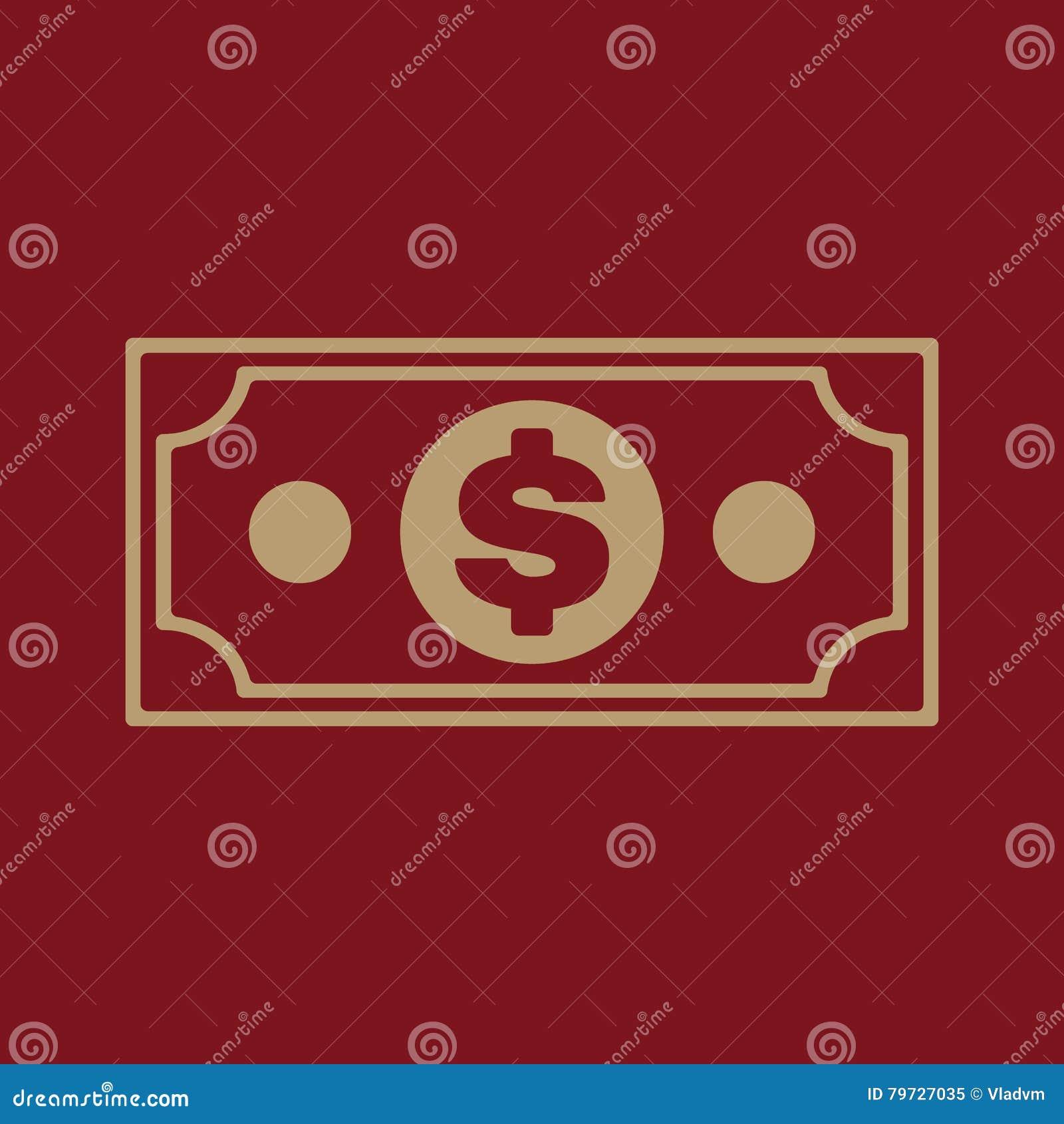 El icono del dinero Símbolo del dólar plano