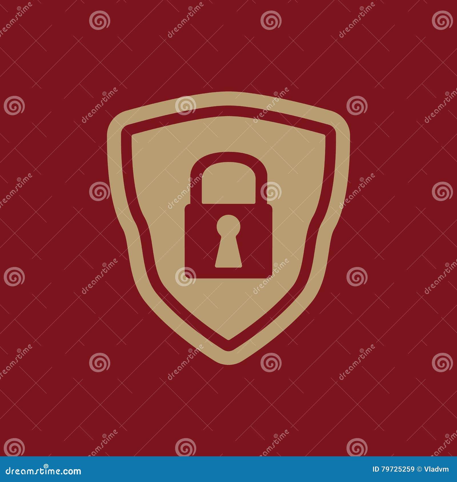 El icono del escudo Símbolo de la seguridad plano