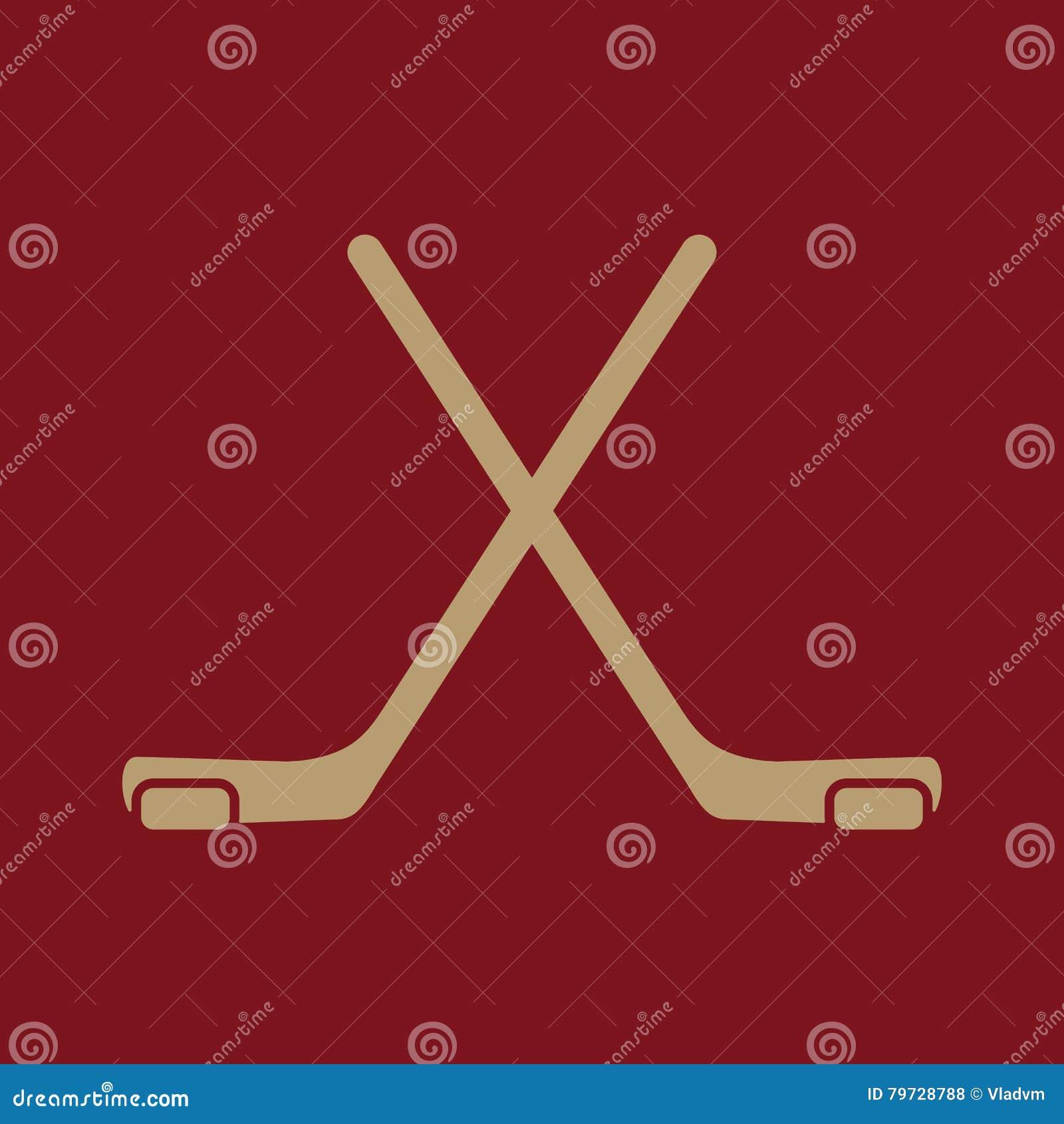 El icono del hockey Símbolo del juego plano