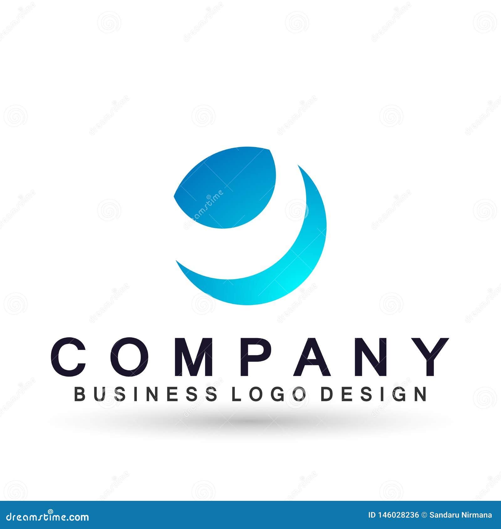 El icono del logotipo del negocio de la compañía del globo, unión en corporativo invierte diseño del logotipo del negocio Inversi