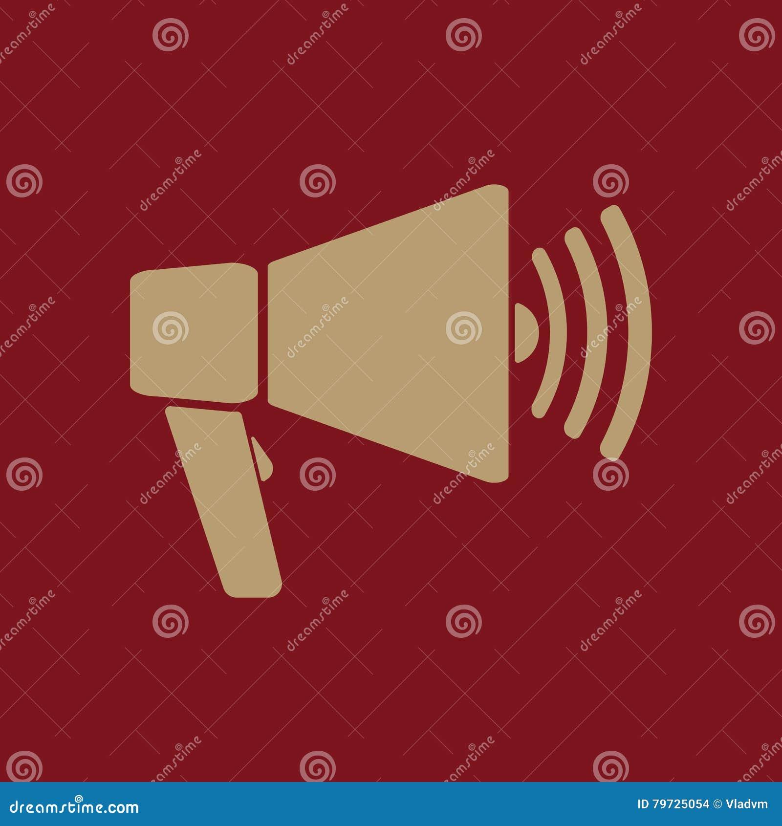 El icono del megáfono Símbolo del megáfono plano