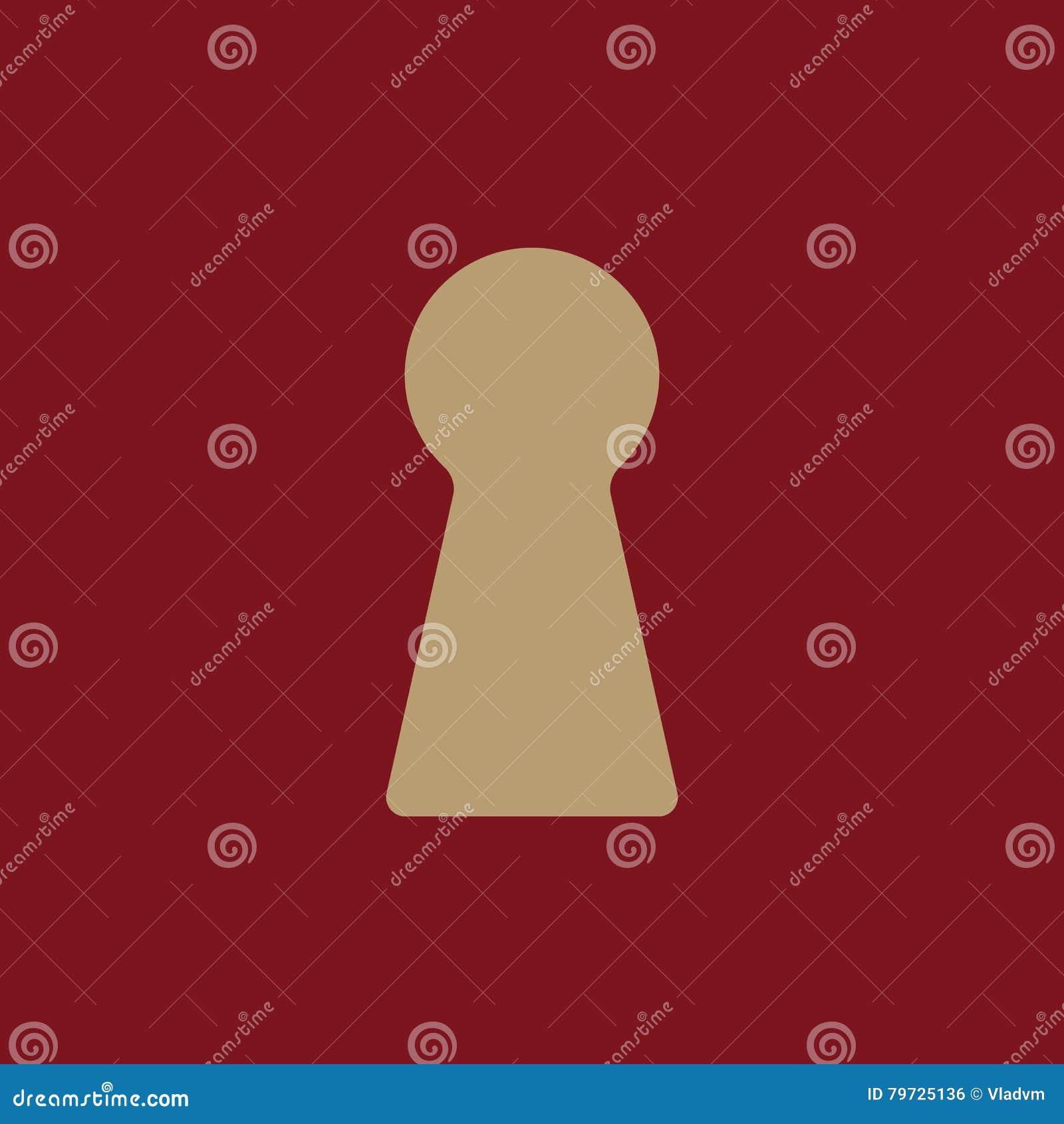El icono del ojo de la cerradura Bloquee el símbolo plano