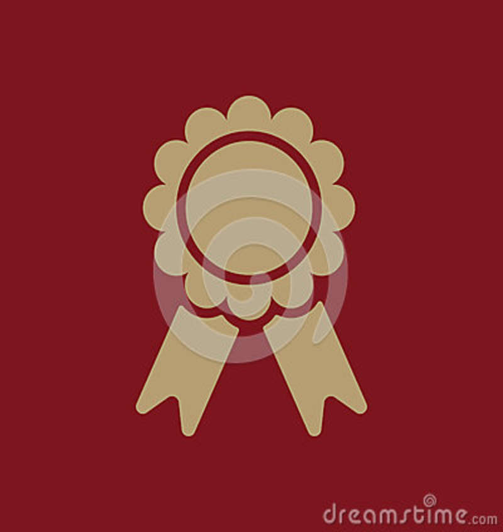 El icono del premio Símbolo del logro plano