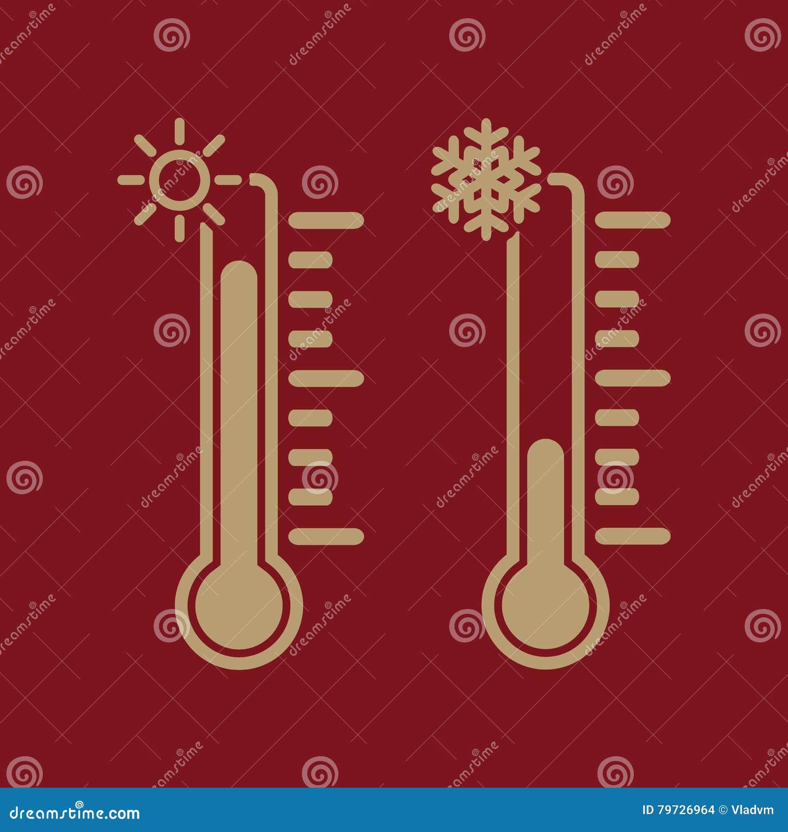 El icono del termómetro Temperatura del cielo y tierra