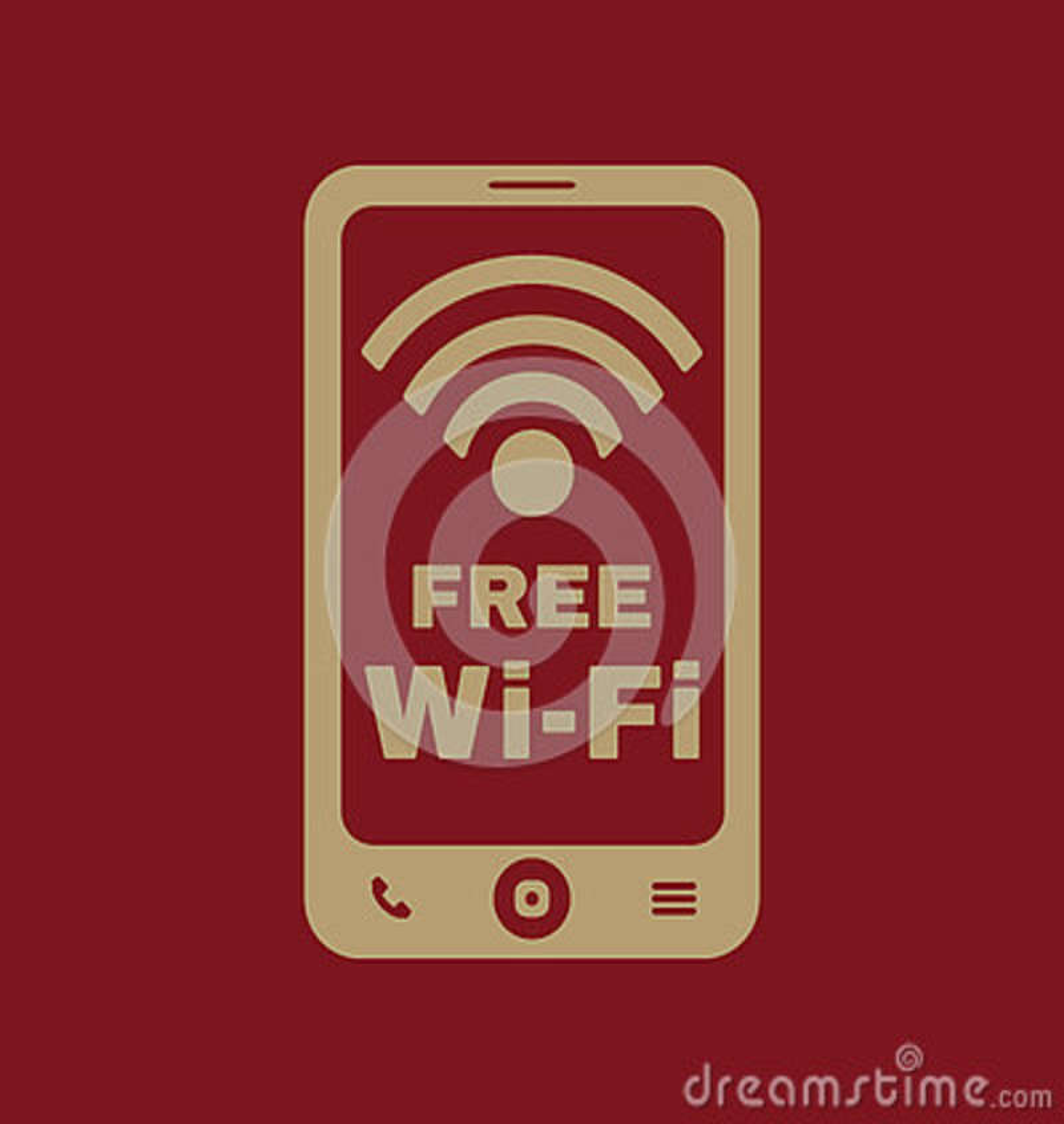 El icono del wifi Símbolo libre del wifi plano