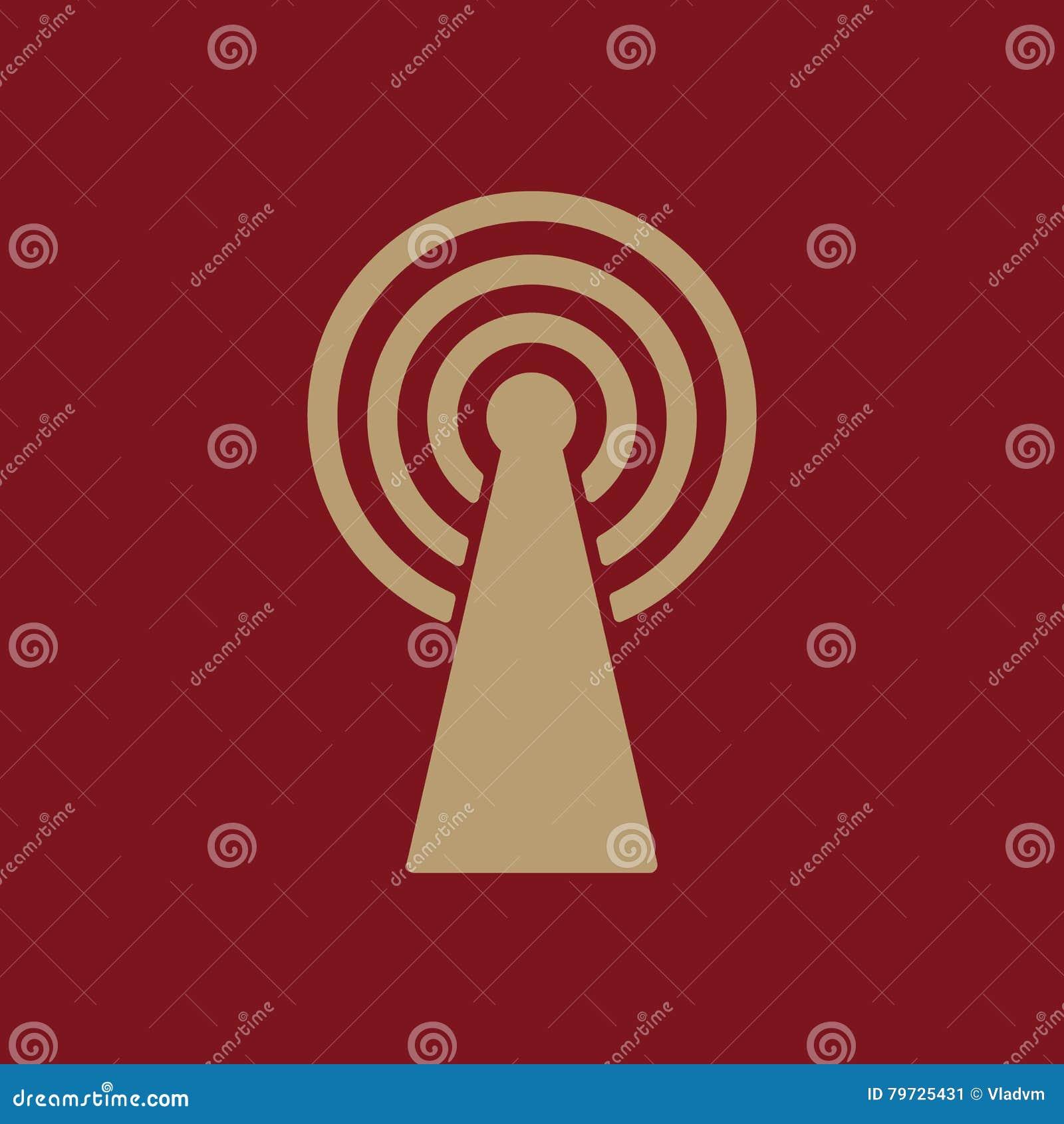 El icono inalámbrico Símbolo de Wifi