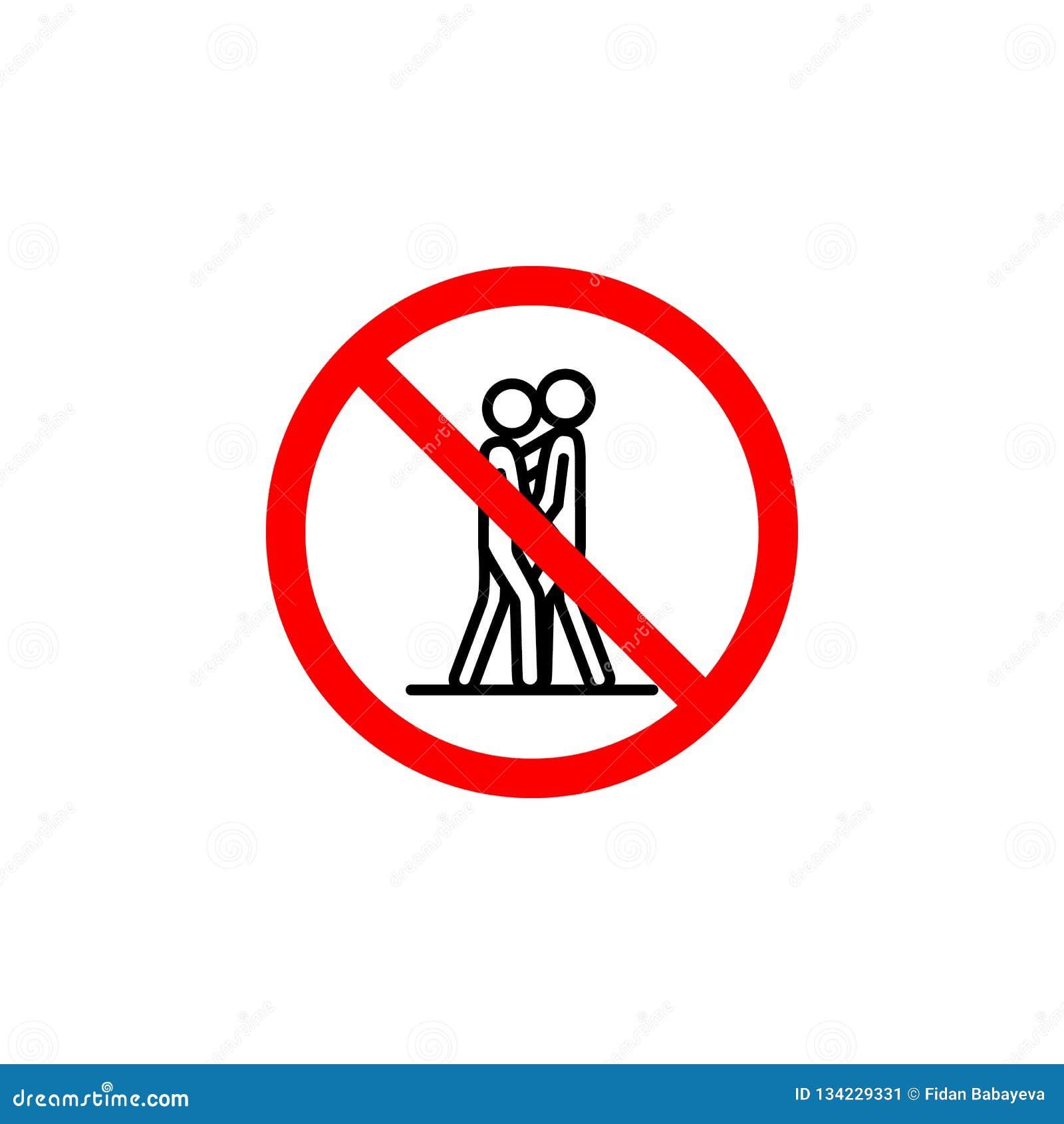El icono que se besa prohibido en el fondo blanco se puede utilizar para la web, logotipo, app móvil, UI UX