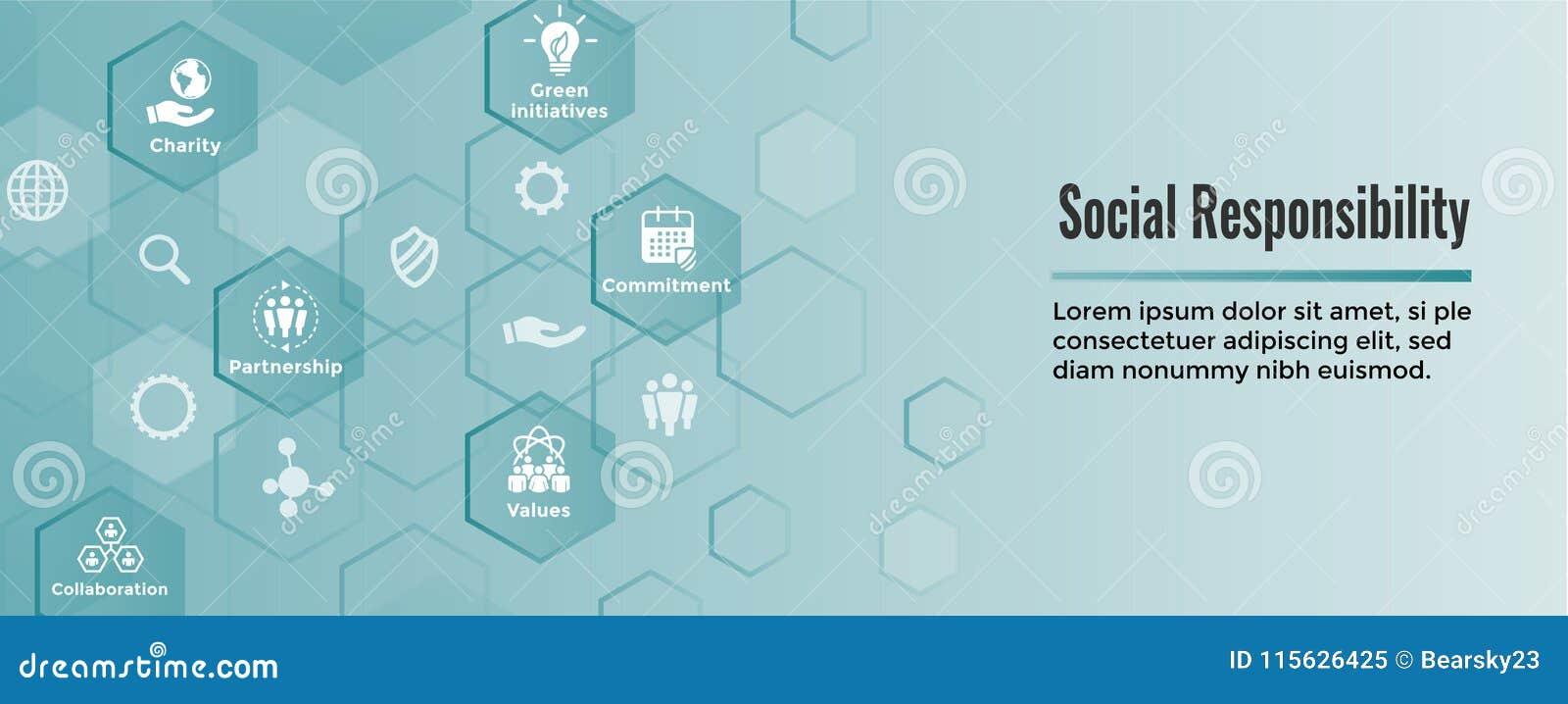 El icono sólido de la responsabilidad social fijó - la honradez, integridad, colla