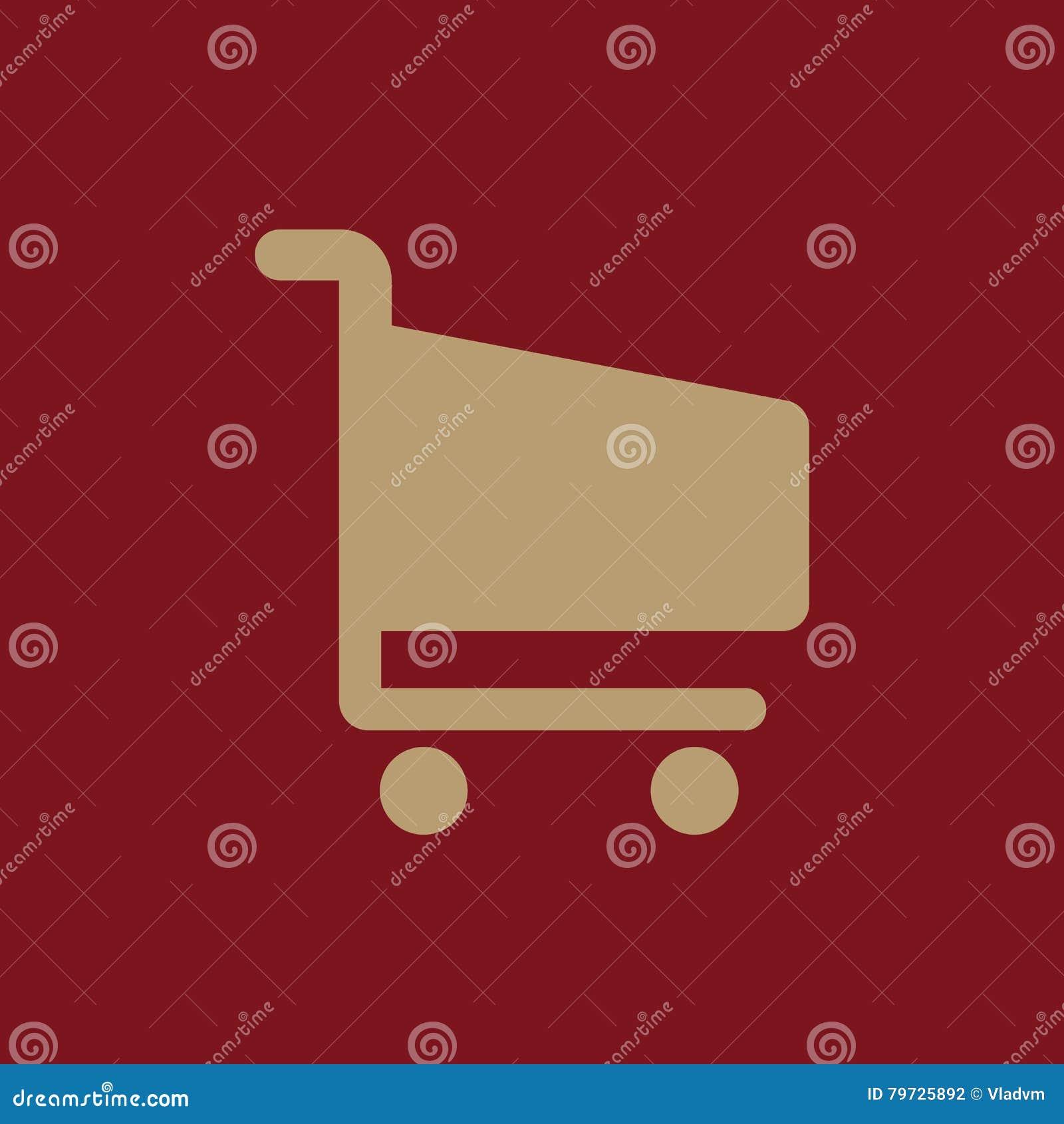 El icono shoping del carro Símbolo del carro de la tienda plano