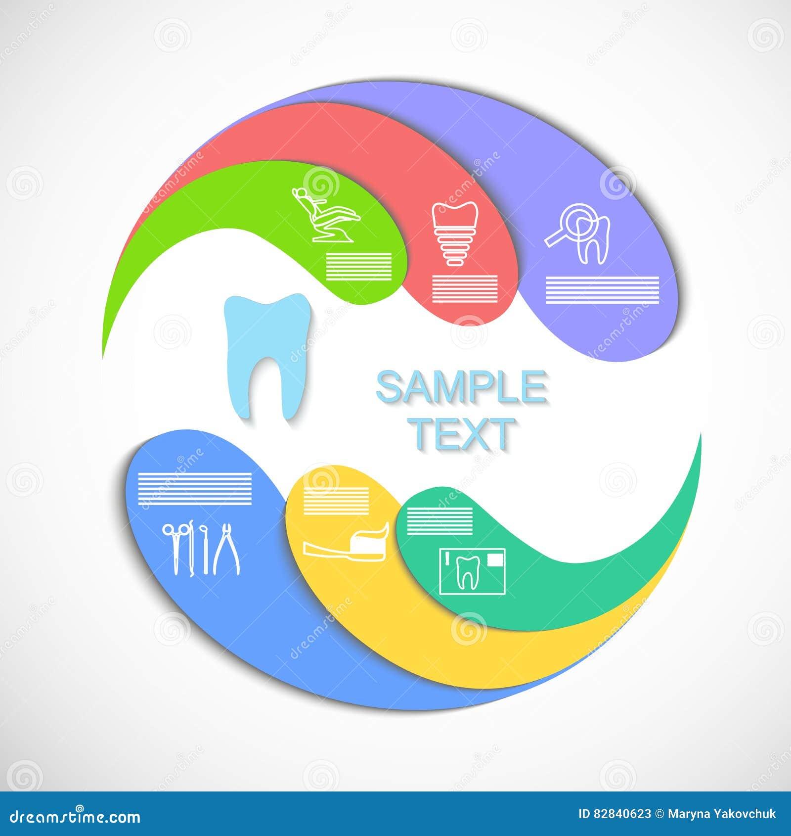 El infographics del círculo
