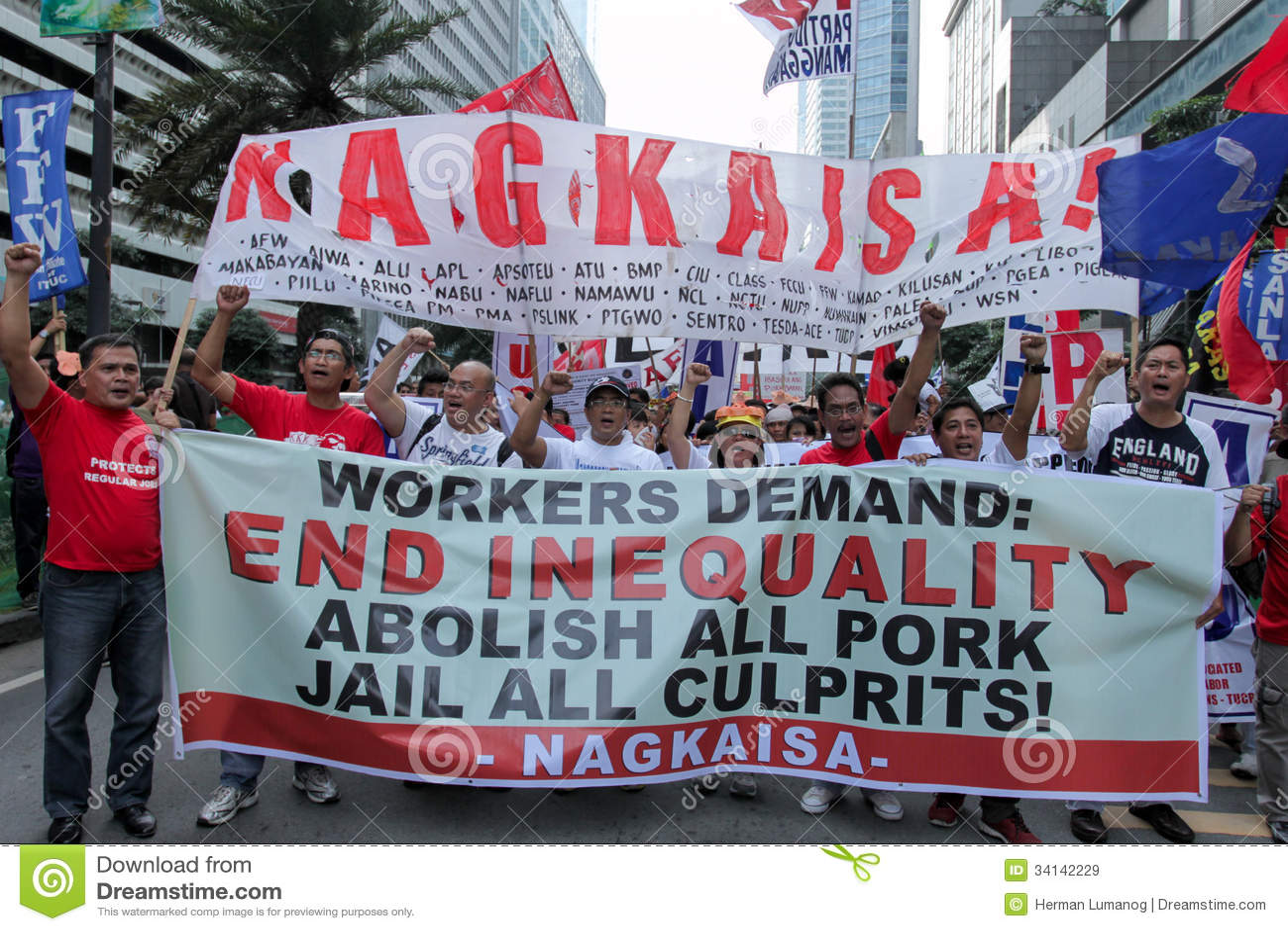 El injerto y la corrupción protestan en Manila, Filipinas