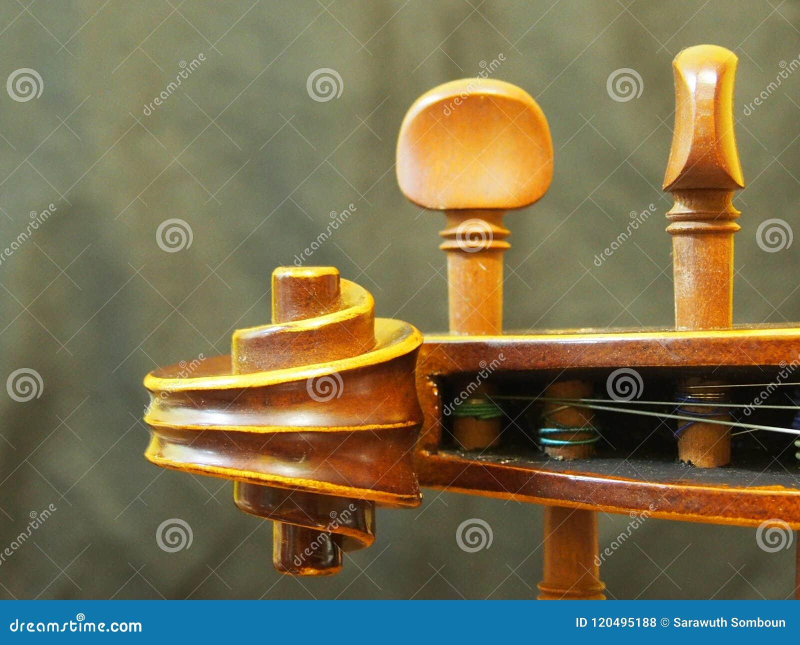 El instrumento de música principal de la secuencia del violín retro inspira la opinión del agujerito