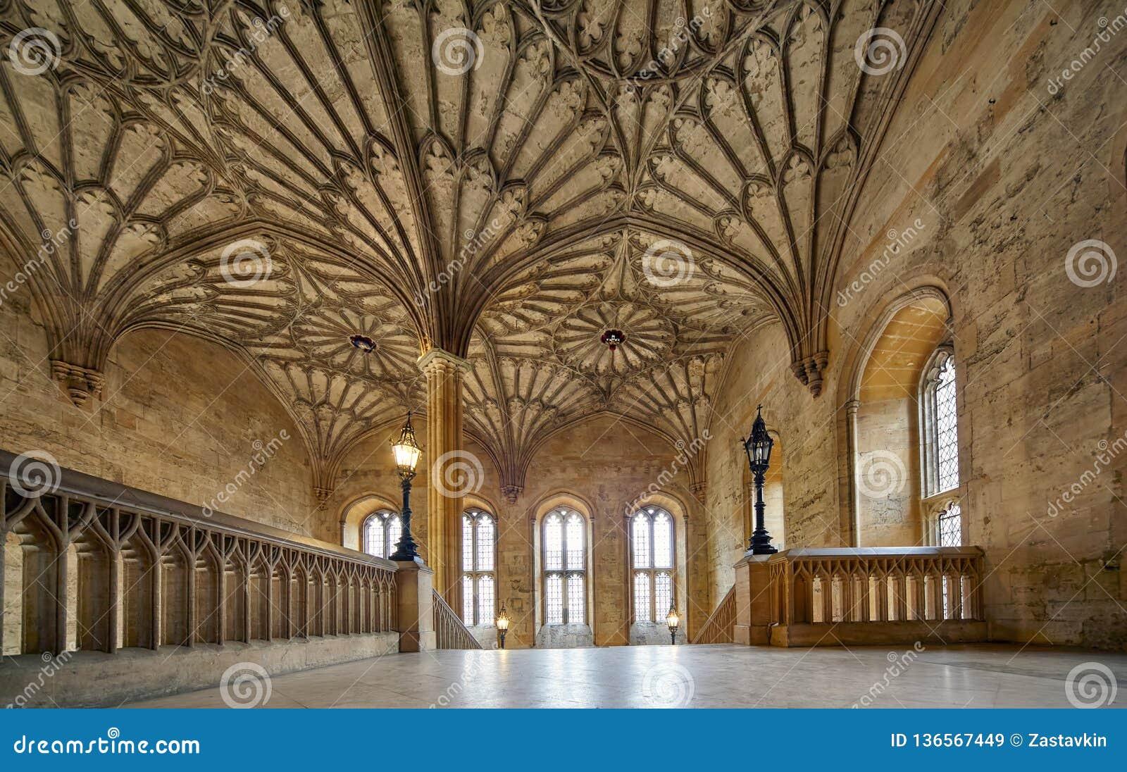 El interior de la torre de Bodley Iglesia de Cristo Universidad de Oxford inglaterra