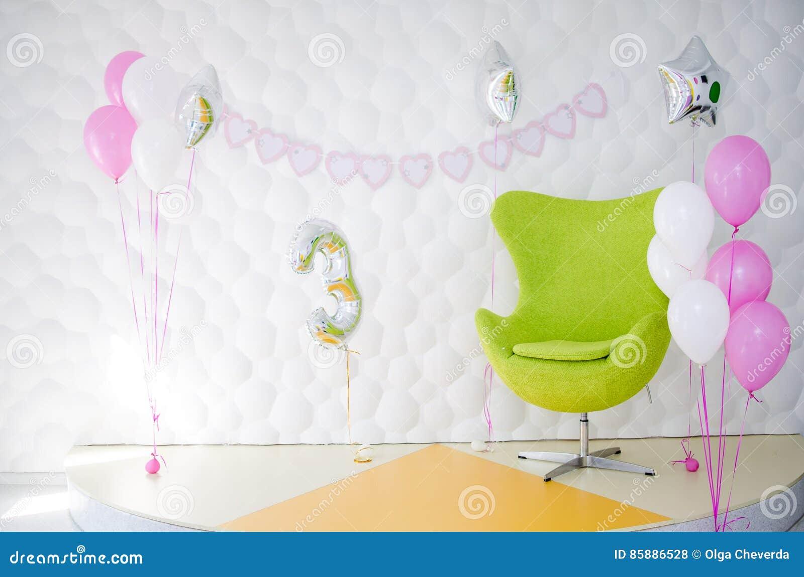 El interior de una fiesta de cumpleaños del ` s del niño