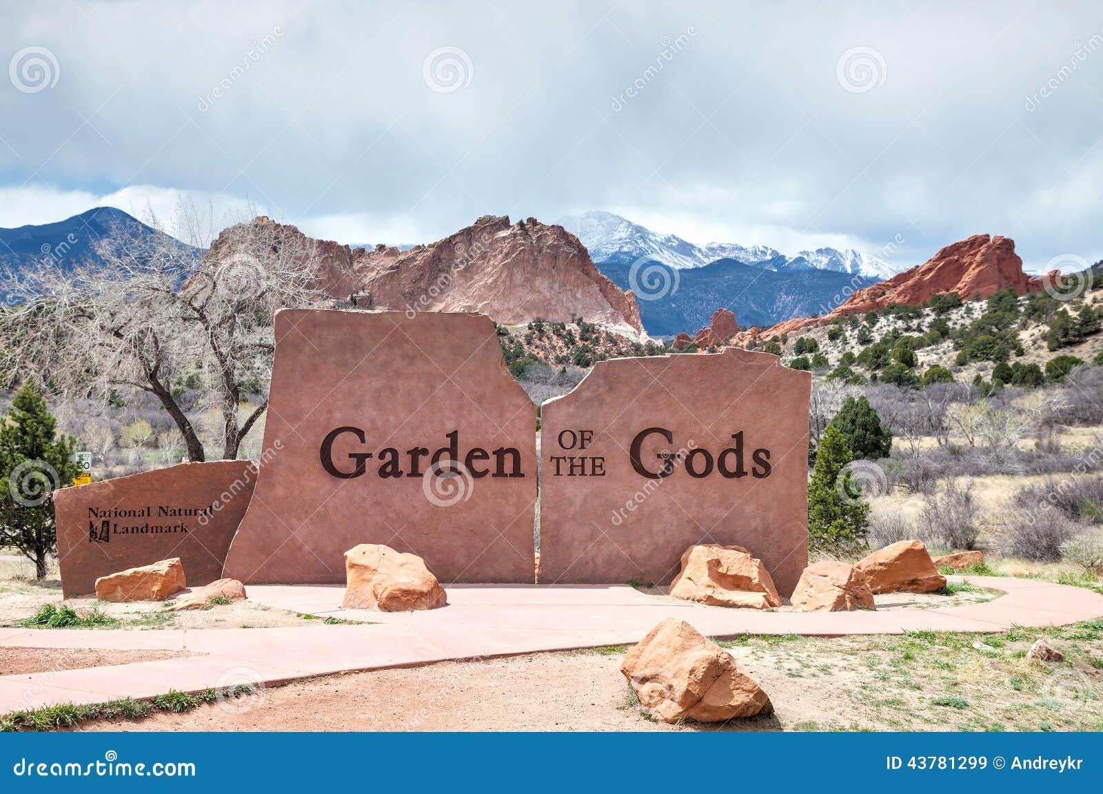 El Jardín De Dioses Firma Adentro Colorado Springs Imagen de archivo ...