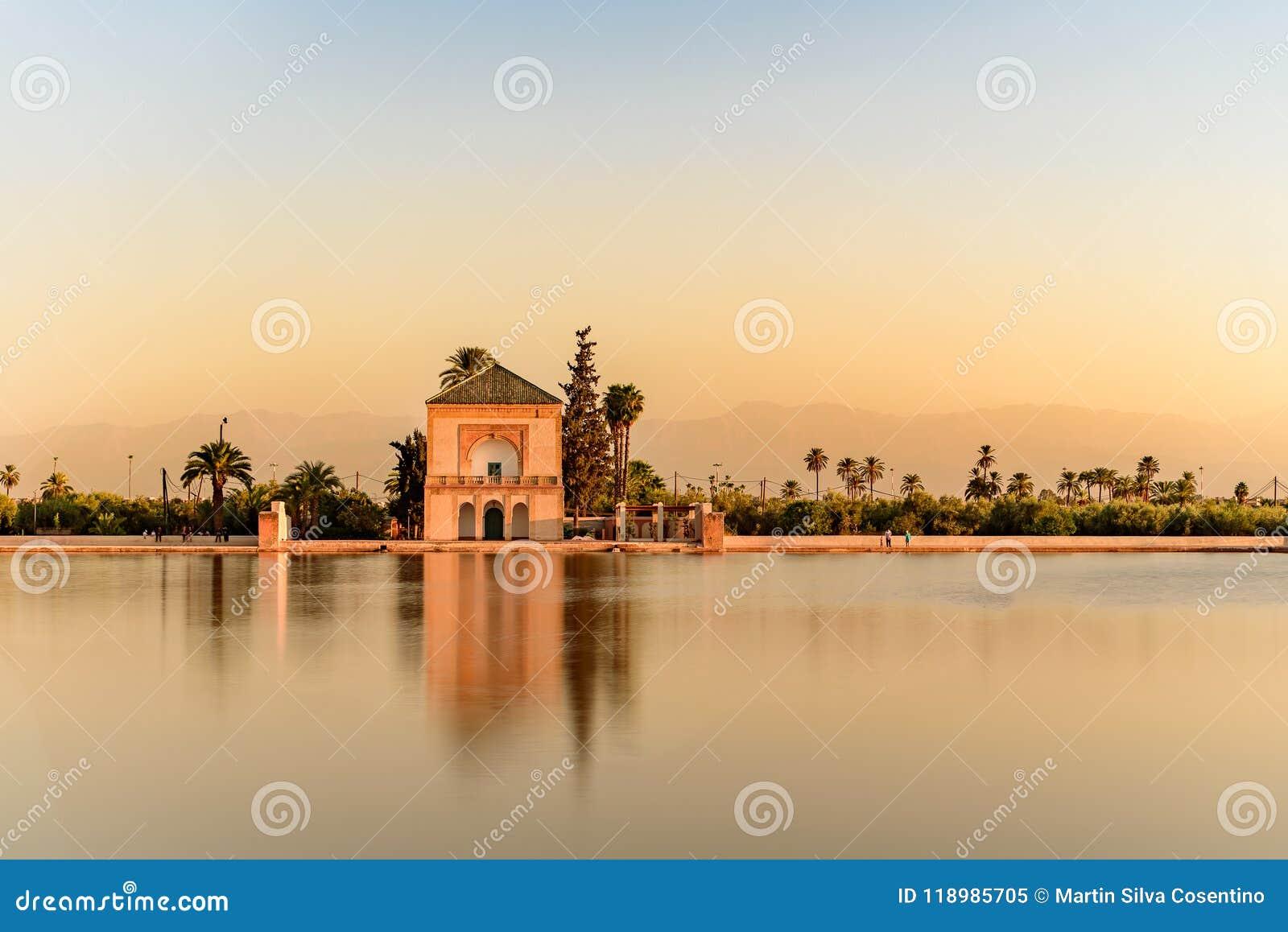 El Jardin De La Menara Marrakech Marruecos Editorial Image Image