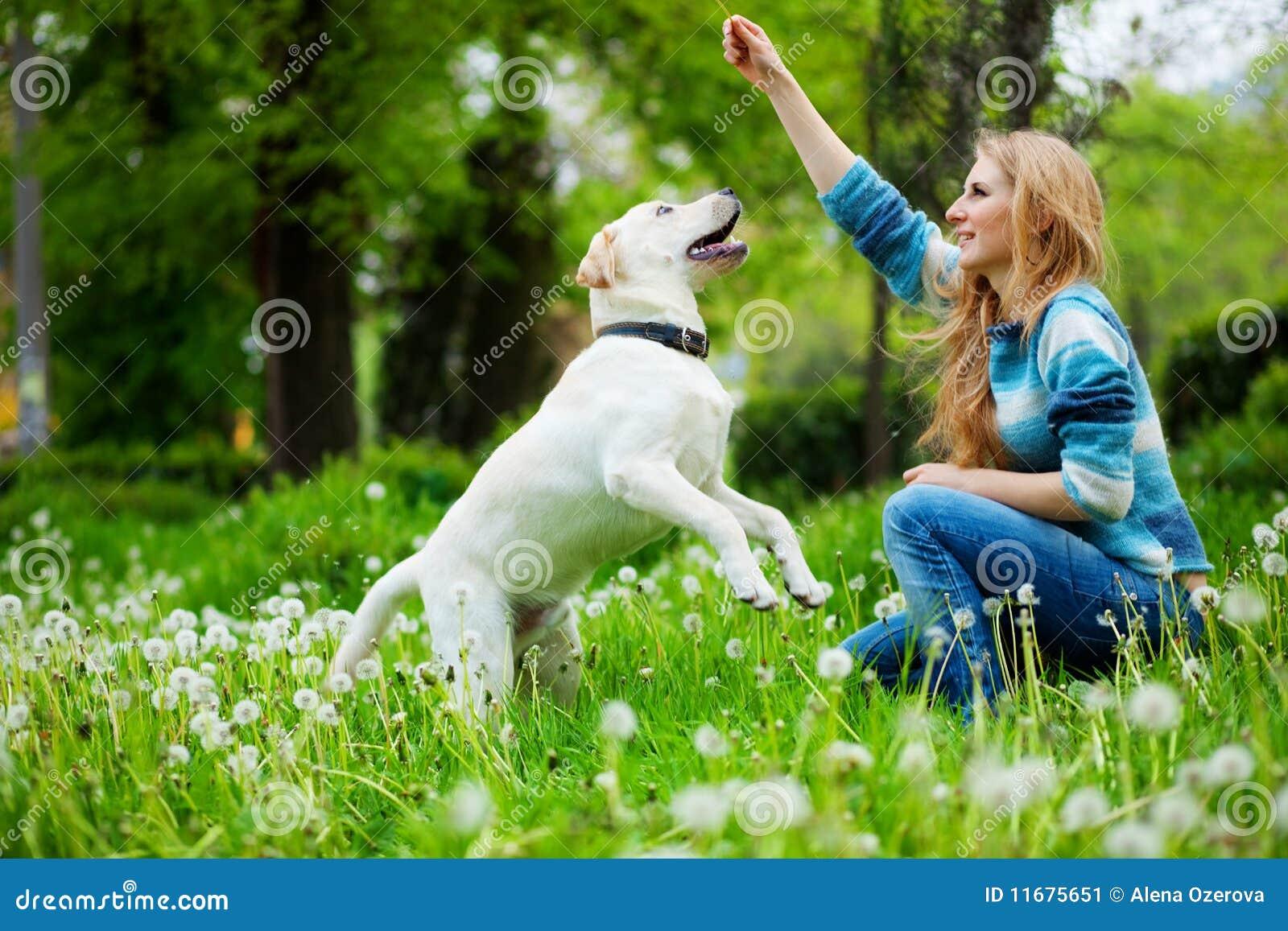 El jugar con el perro