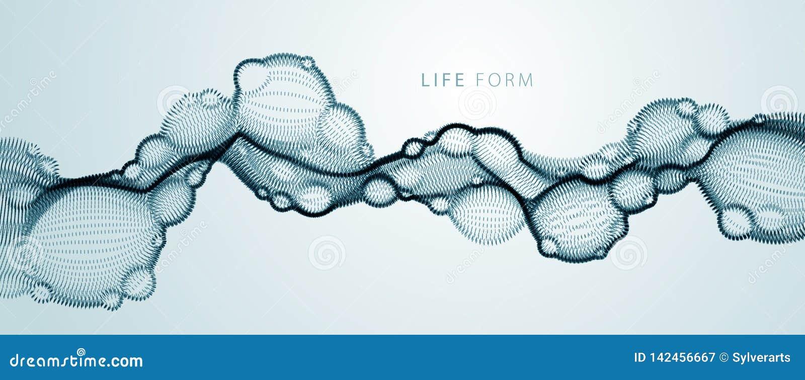 El líquido biológico del vector del extracto, punteó la forma horizontal del flujo de la partícula del vector, tecnología médica