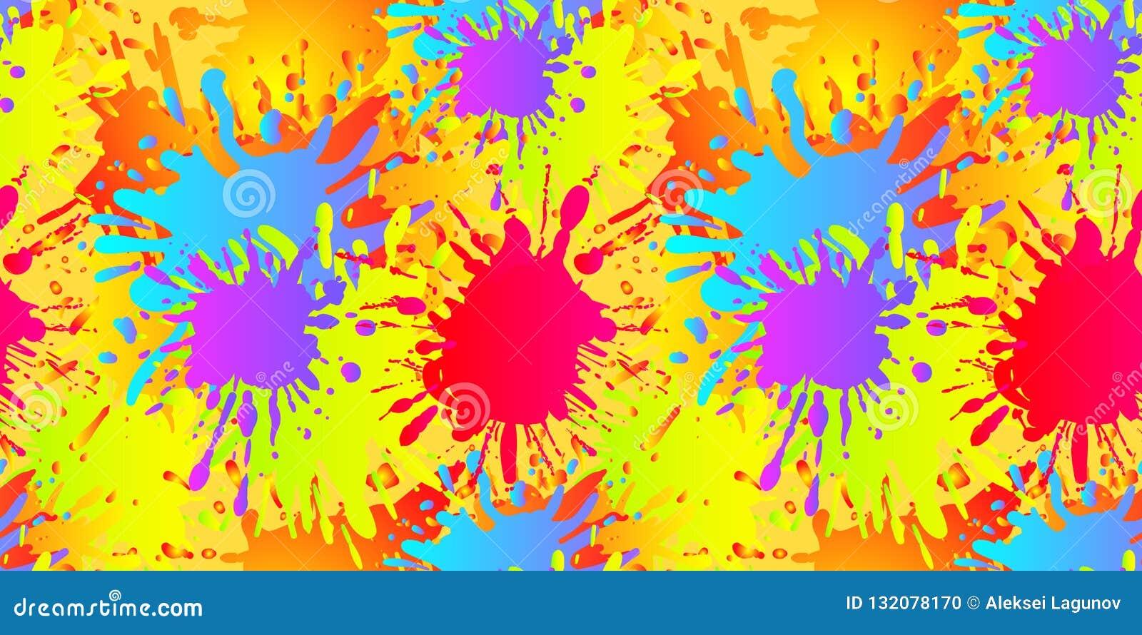 El líquido del vector forma el modelo inconsútil, salpicaduras de la pintura, plantilla del fondo