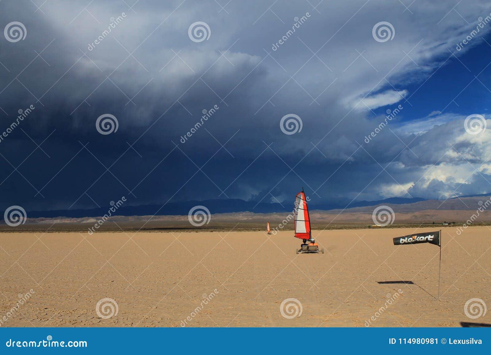 El Leoncito Blokart storm