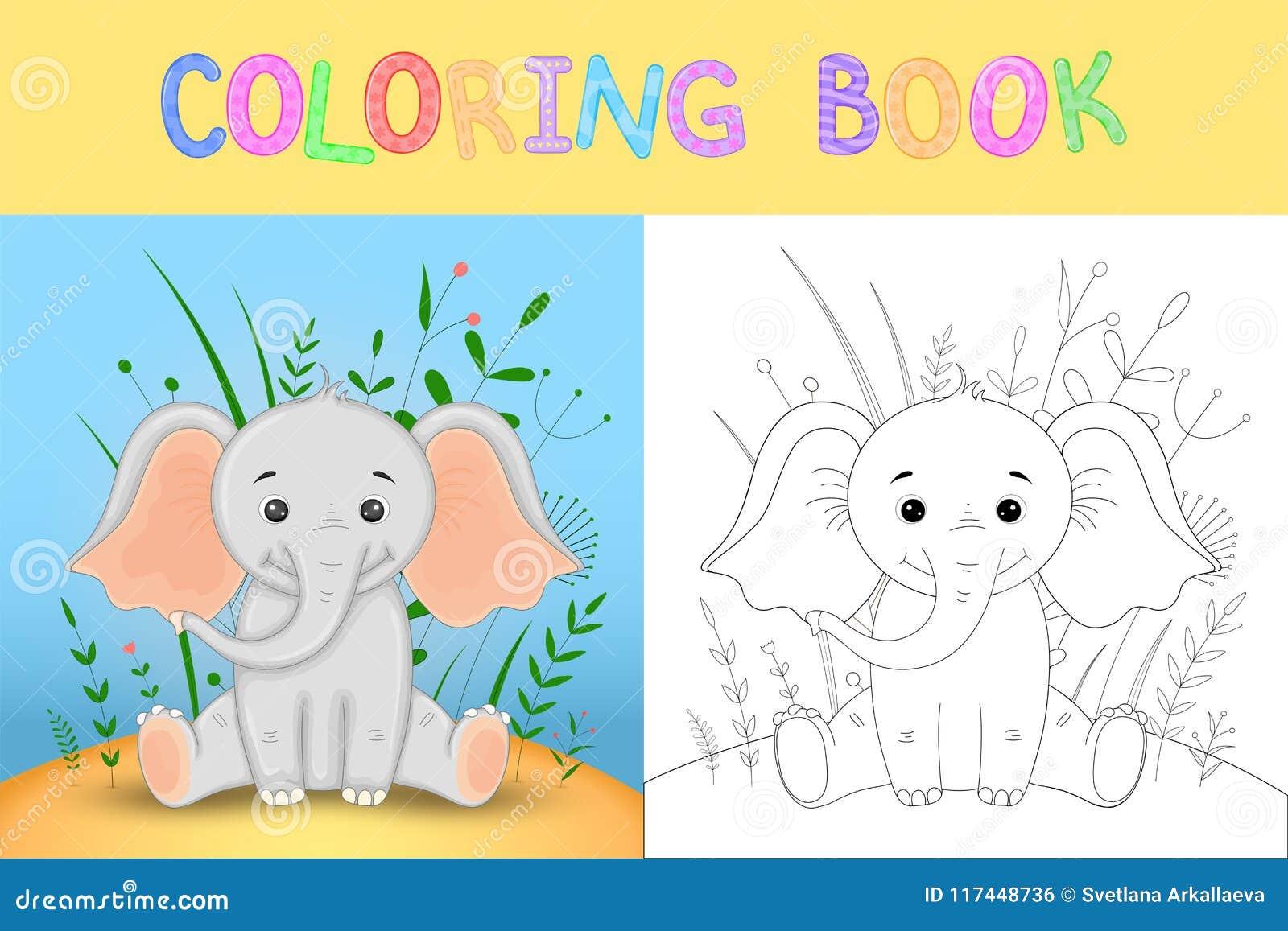 El Libro De Colorear O La Página Para Los Niños De La Escuela Y Del ...