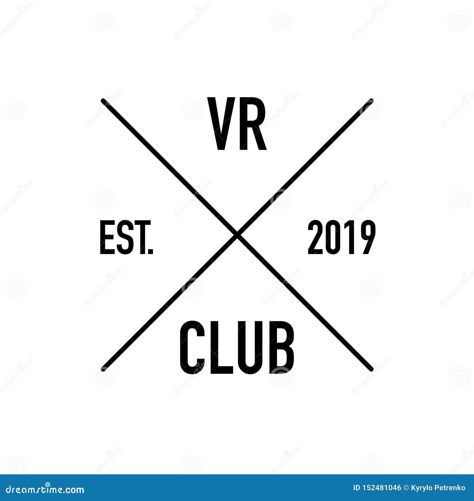 El logotipo aumentado del club de la realidad estableció el fondo blanco