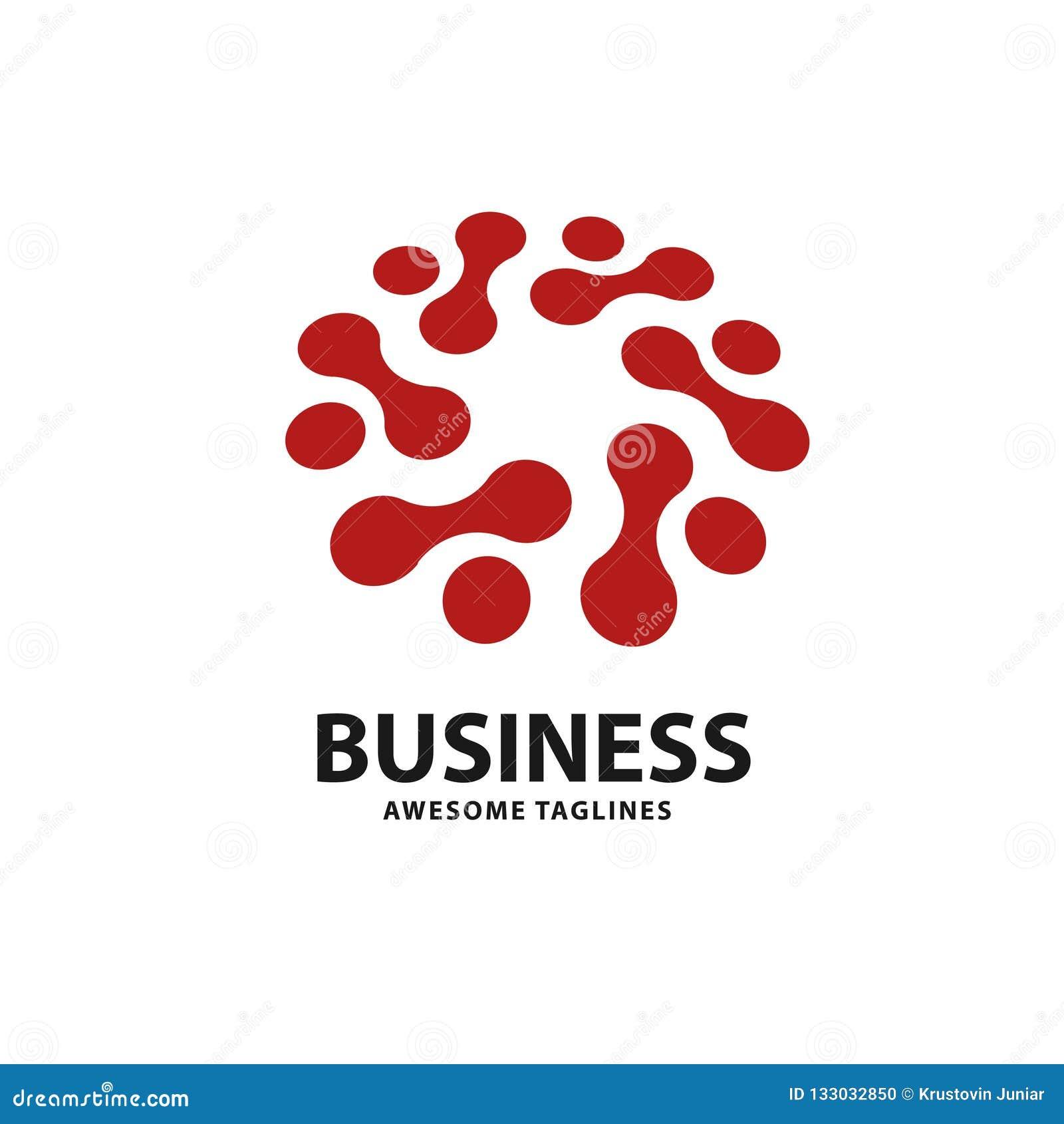 El logotipo de la tecnología con el punto del círculo conecta
