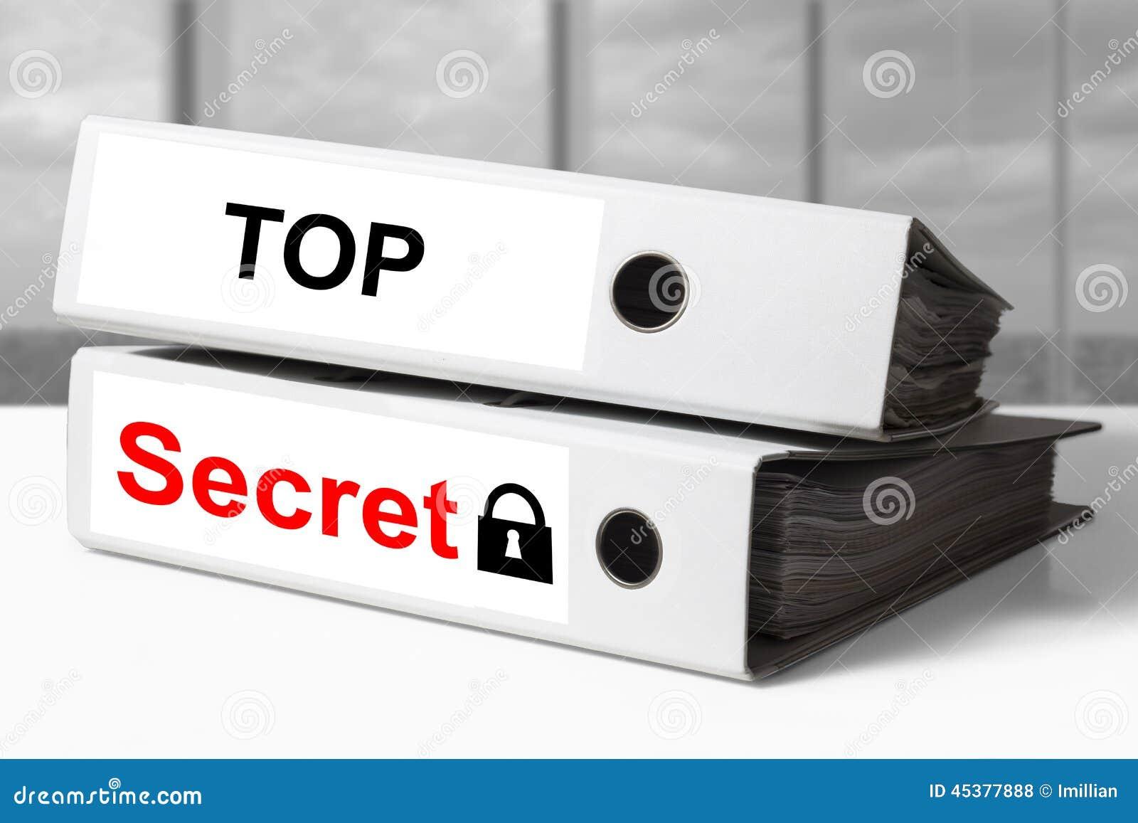 El máximo secreto de la carpeta documenta símbolo de la cerradura