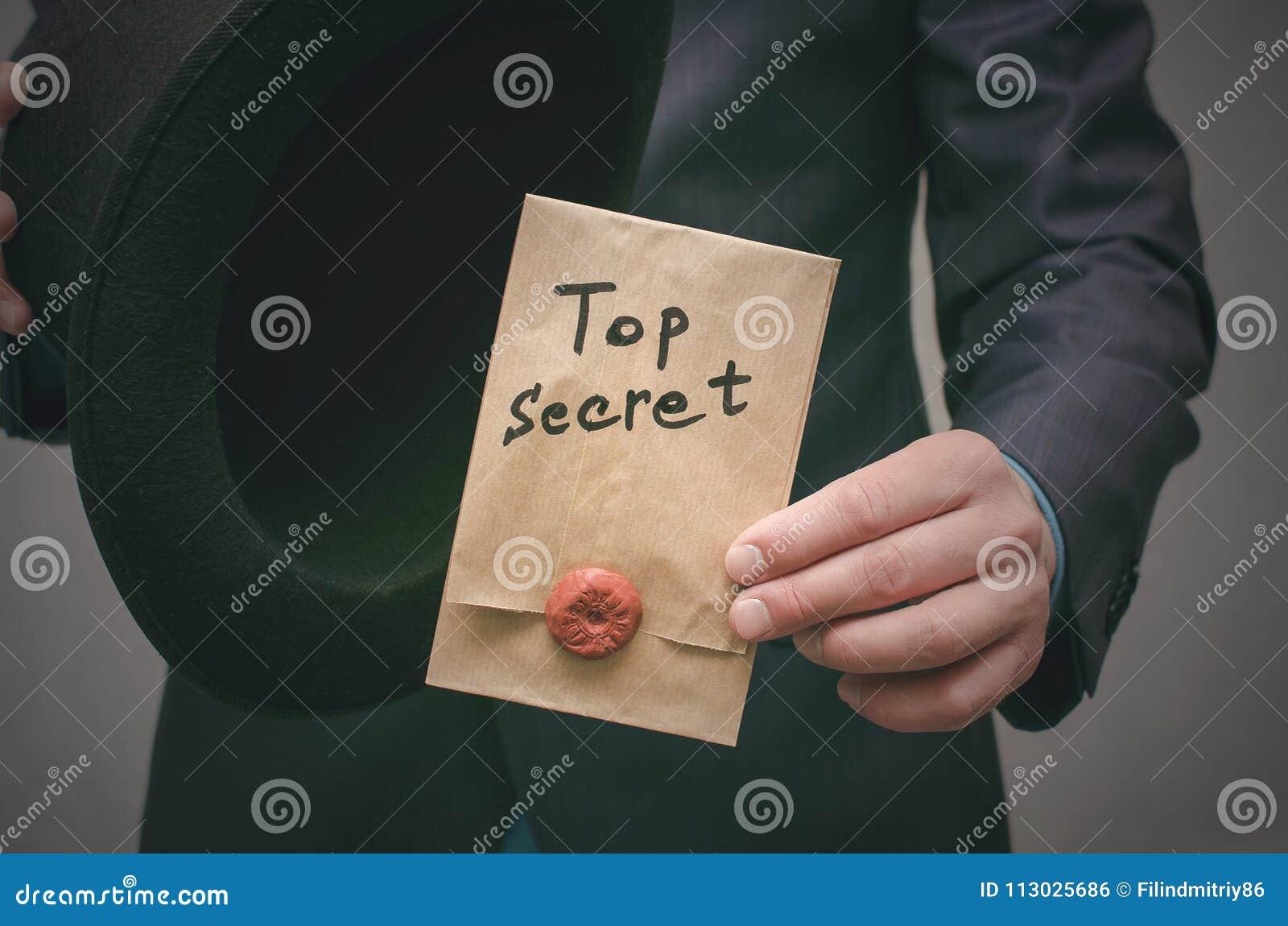 El máximo secreto documenta concepto Información importante estupenda Mensaje confidencial