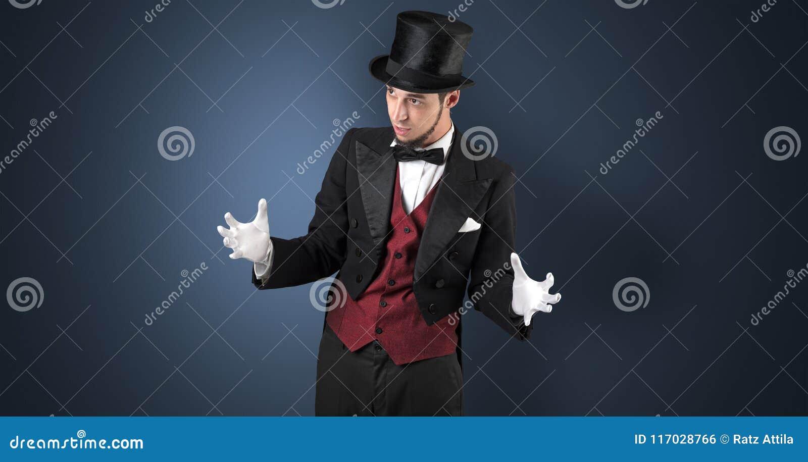 El mago lleva a cabo algo invisible