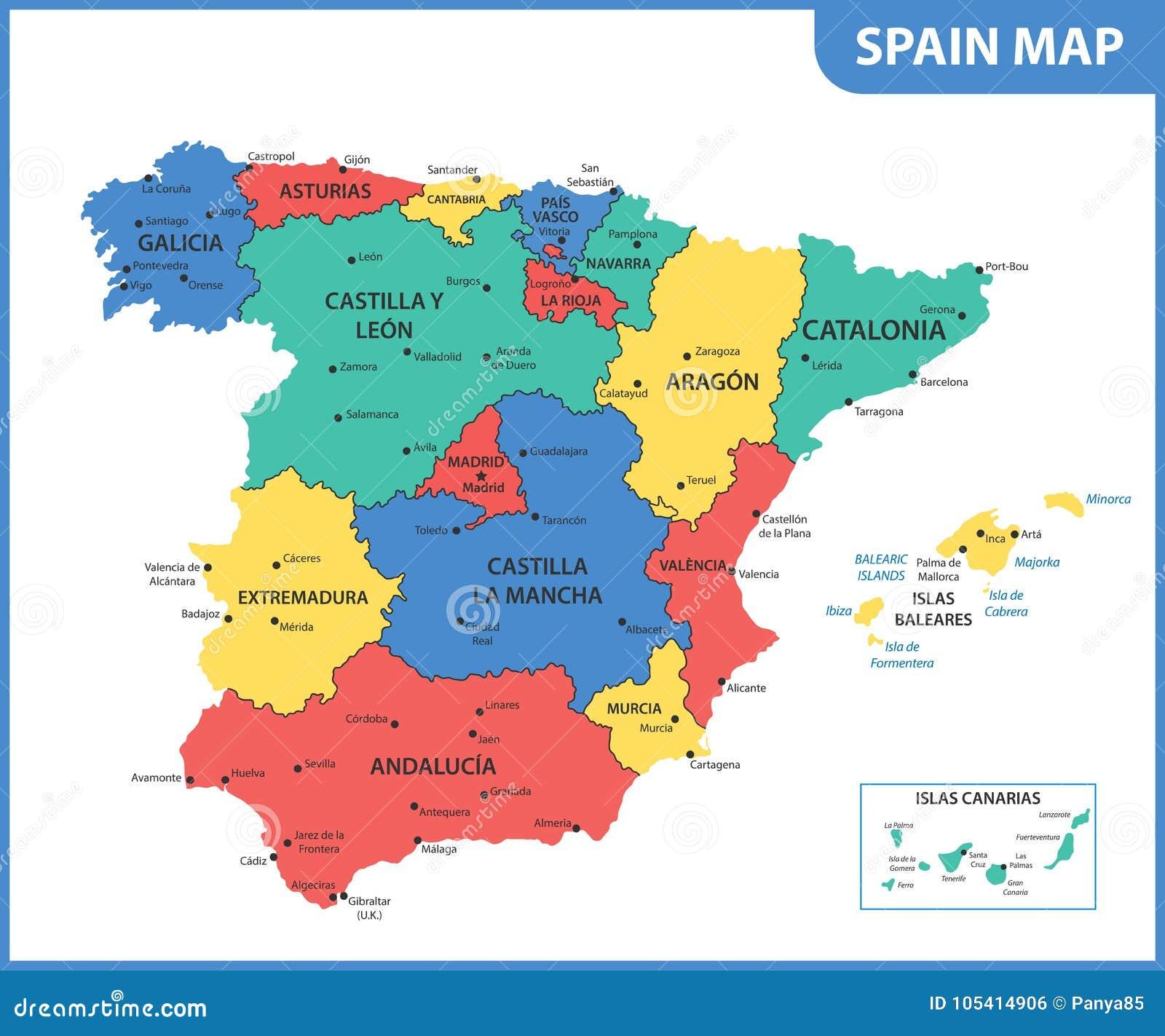 Mapa Regional Asturias Cantabria Carte Regionali Amazon Es Vv