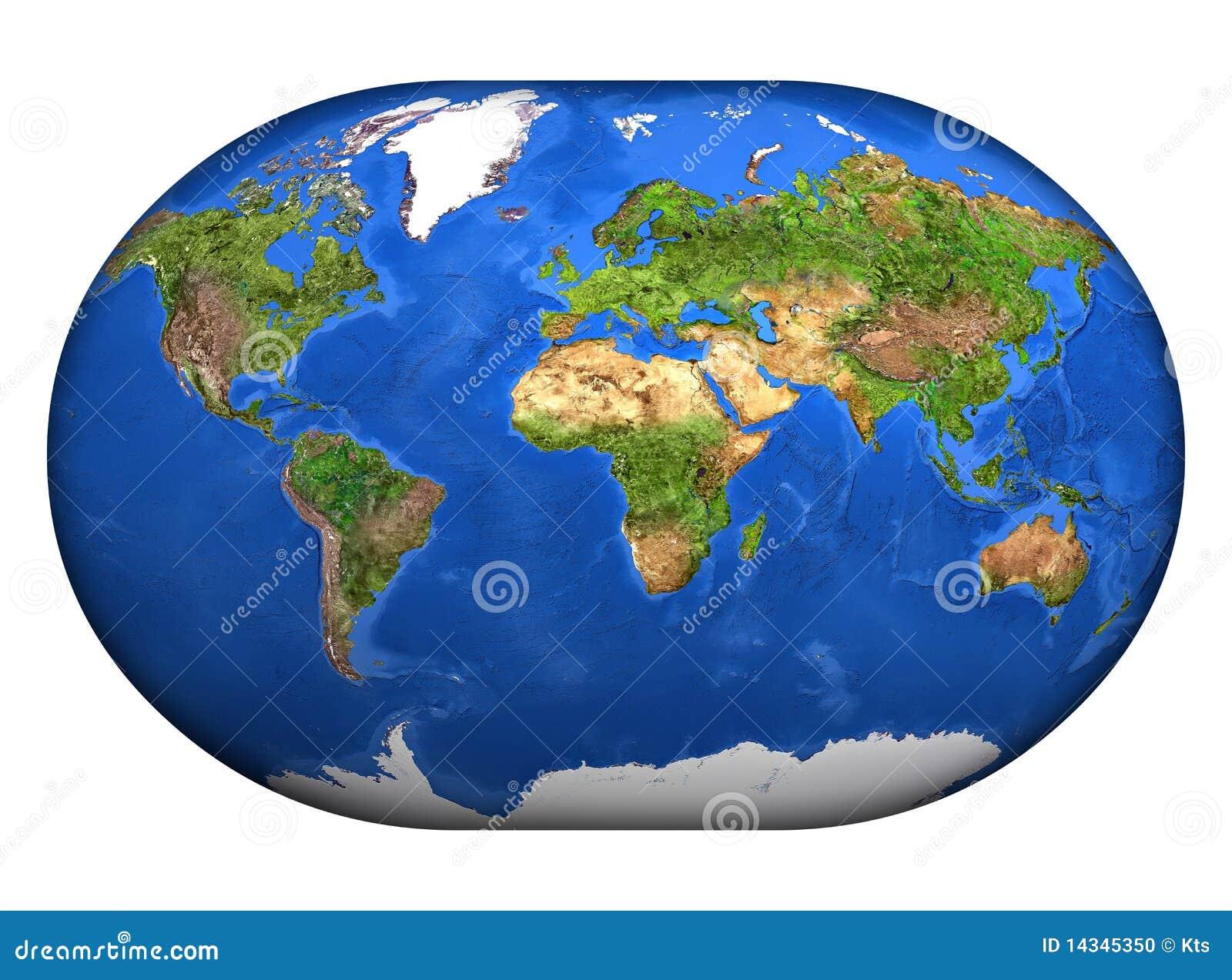 mapa mundi 3d El Mapa Mundi 3D stock de ilustración. Ilustración de ambiente  mapa mundi 3d