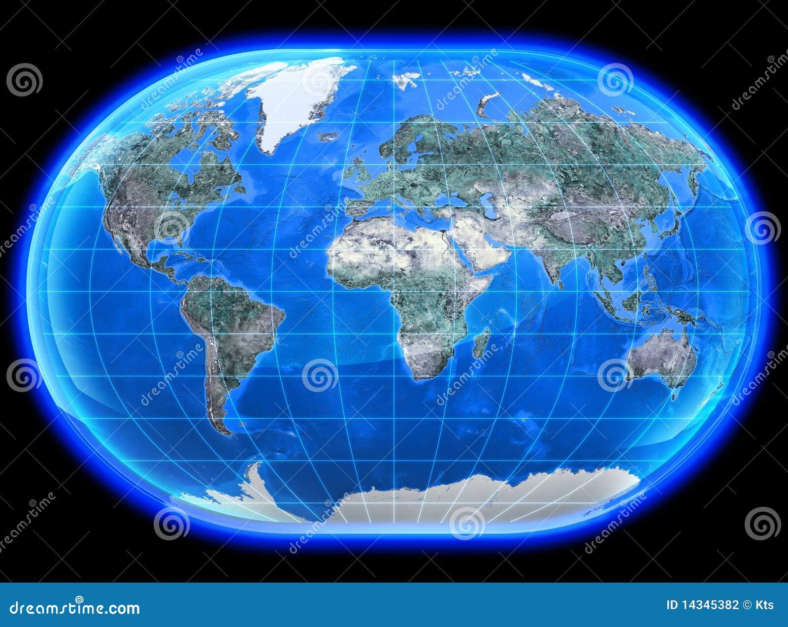 mapa mundi 3d El Mapa Mundi 3D stock de ilustración. Ilustración de textura  mapa mundi 3d