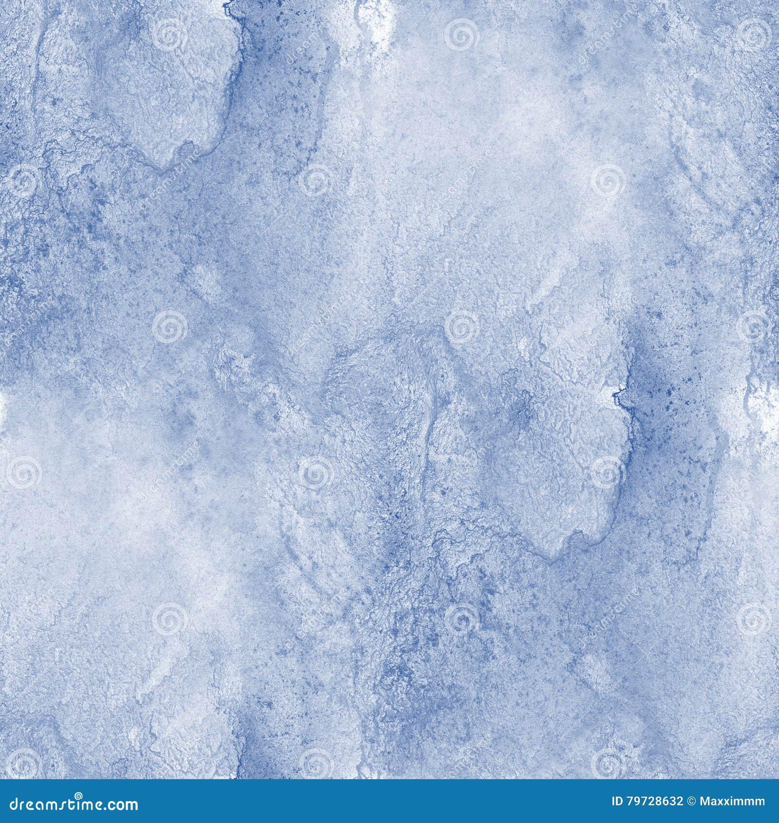 El mar pintado a mano del océano de la textura inconsútil del agua agita arte azul del fondo de la pintura abstracta de la acuare