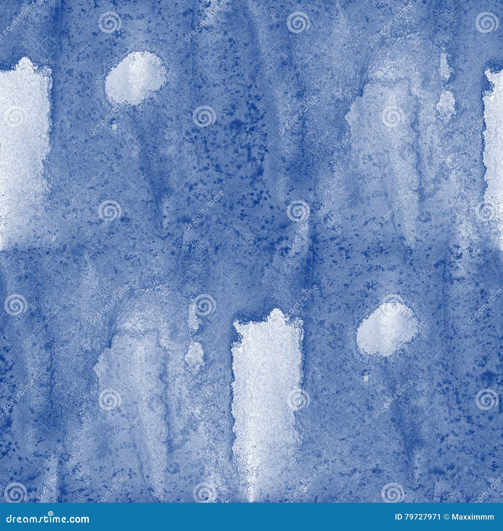 El mar pintado océano inconsútil de la mano de la textura del agua agita arte azul del fondo de la pintura abstracta de la acuare