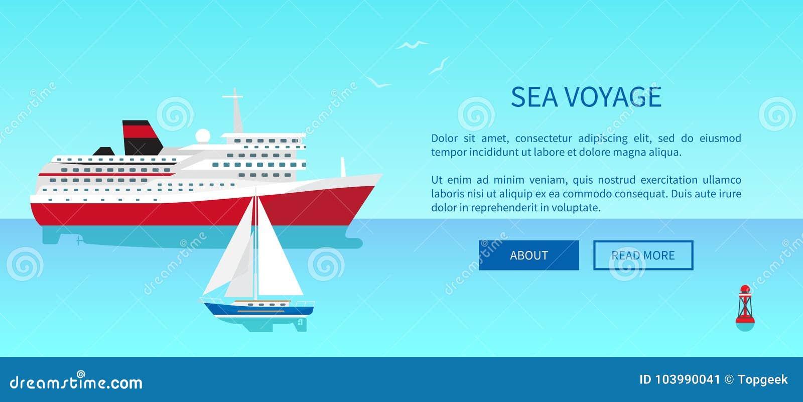 El mar viaja el cartel promocional, yate moderno
